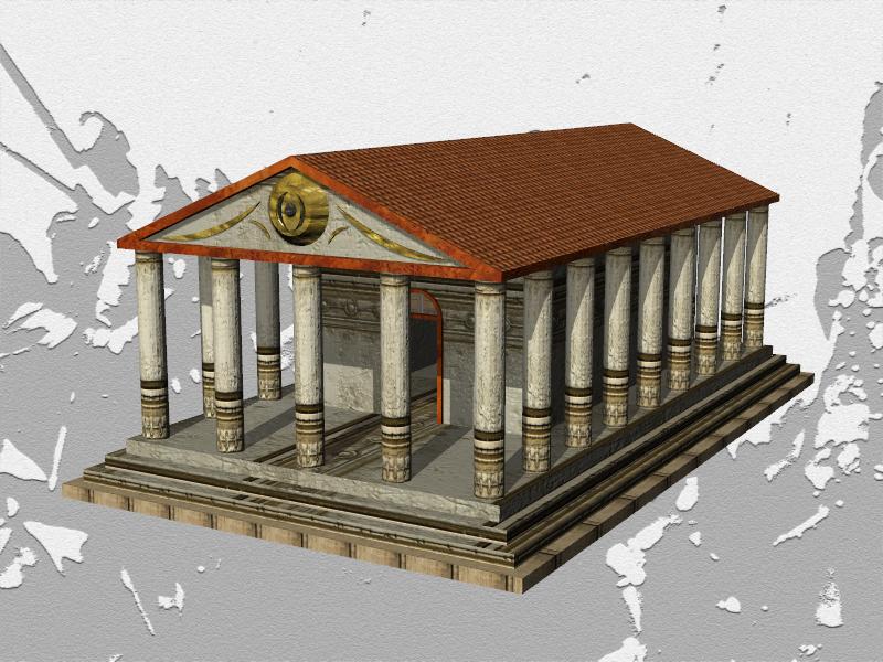 Fantasy Greco-Roman Temple