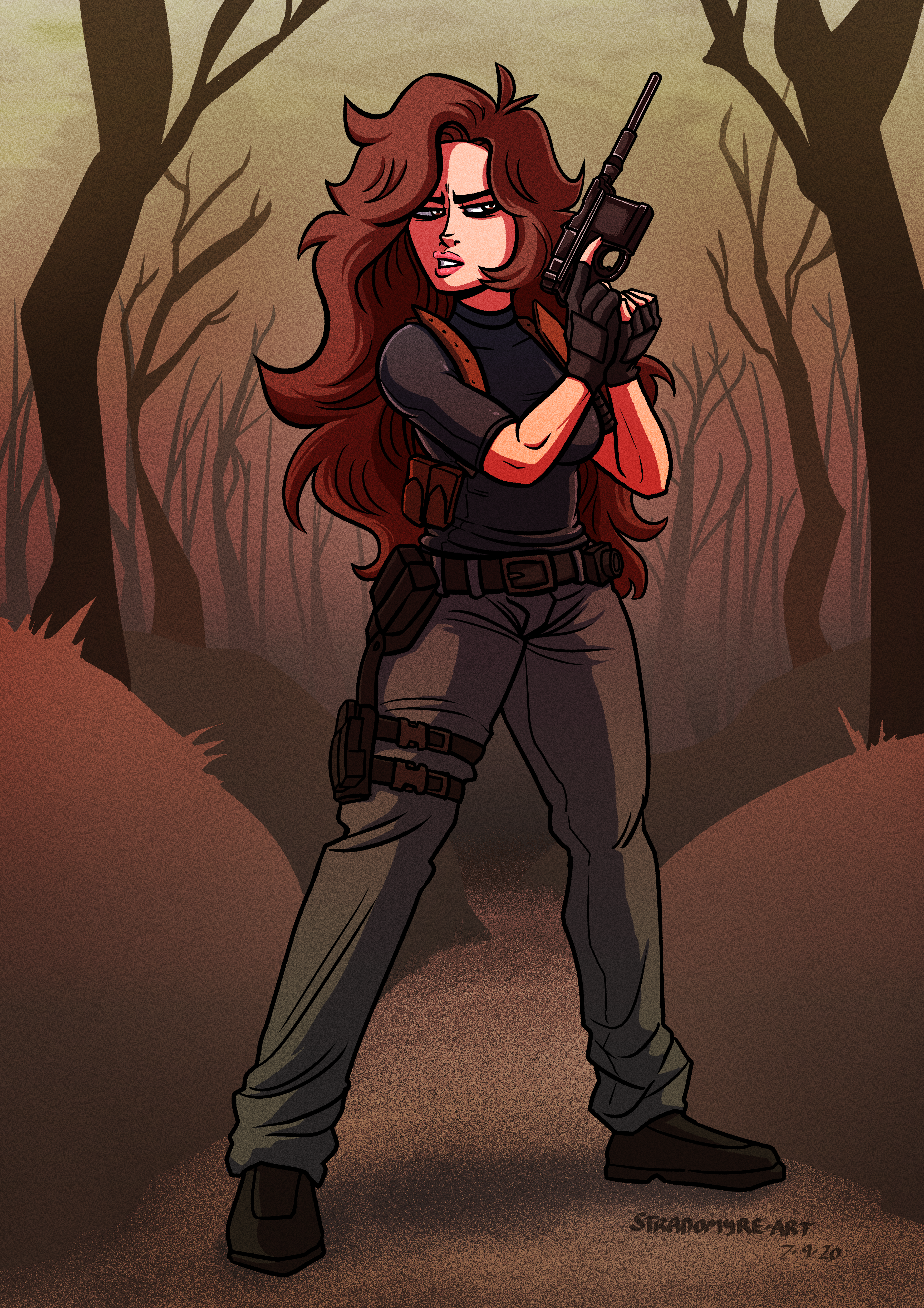 COMMISSION - Agent Ace in Resident Evil 4