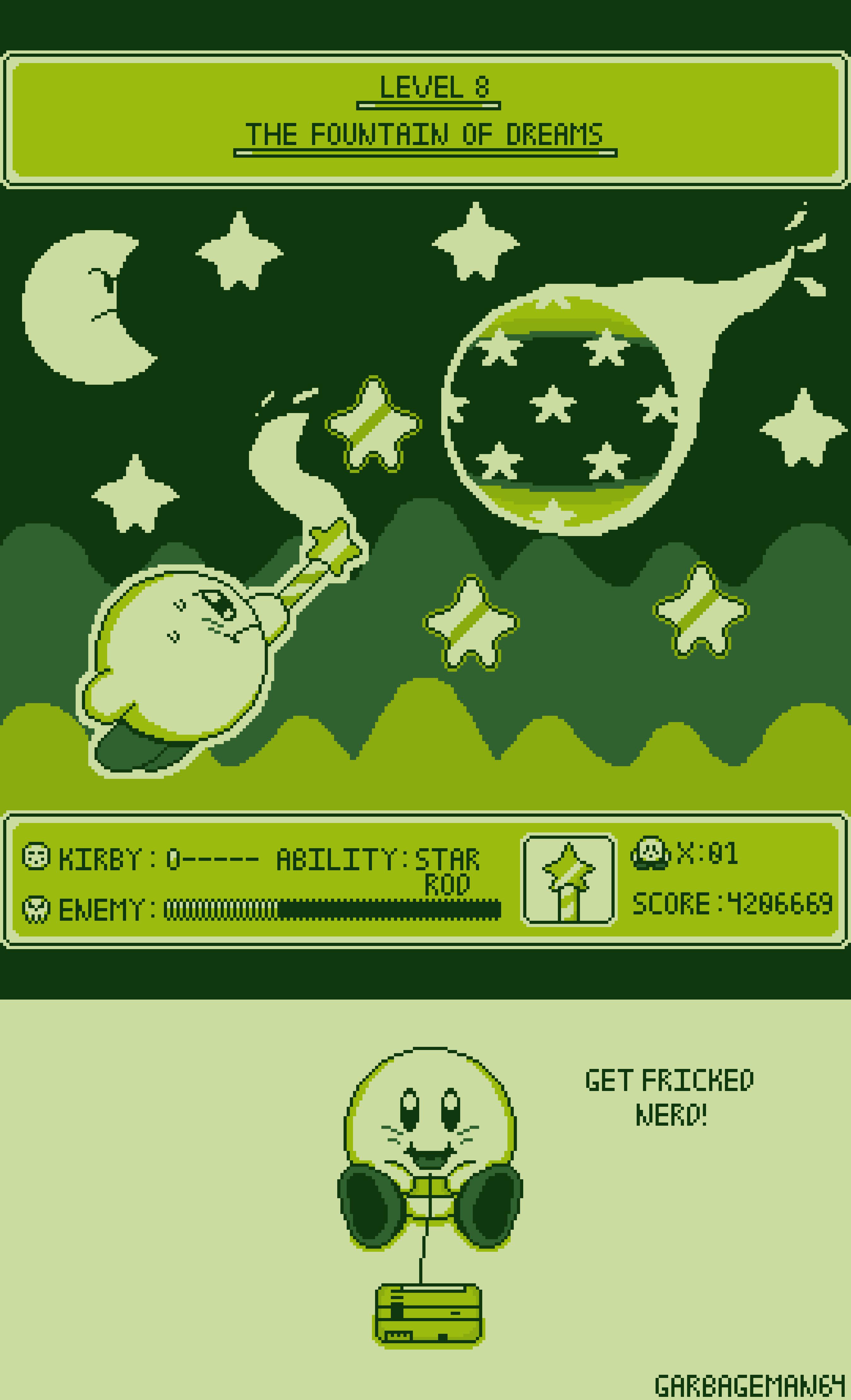 Kirby's Adventure GameBoy