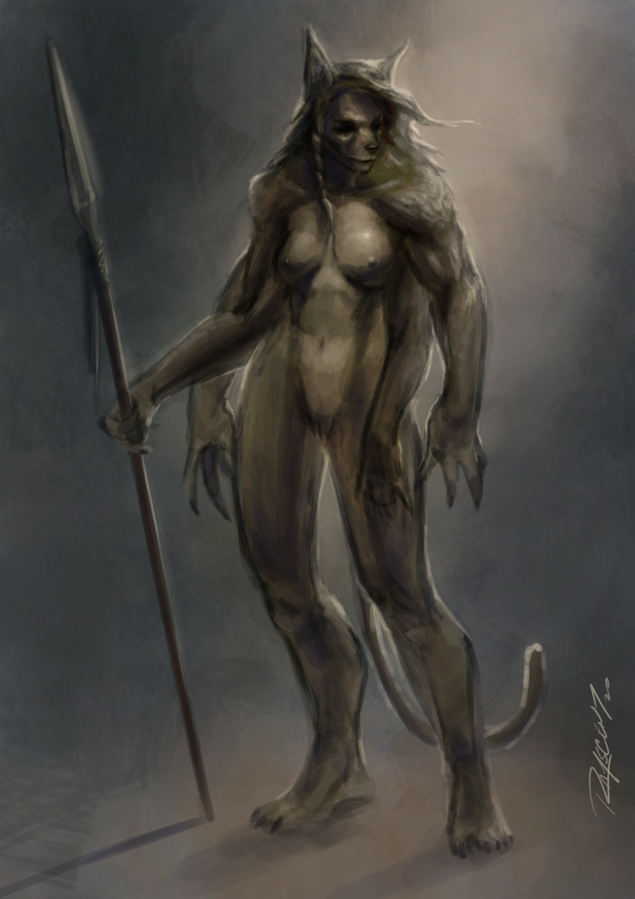 First Attempt at Wolf Lady Idea