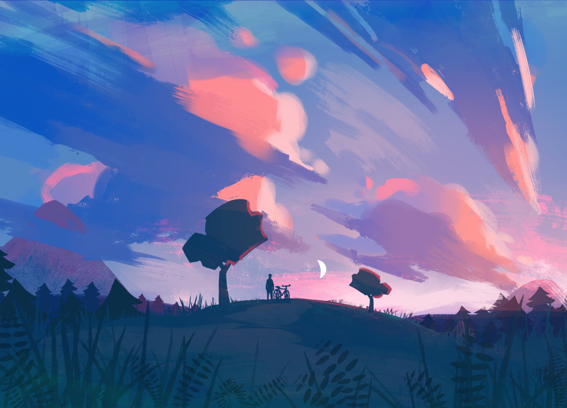 On the hilltop