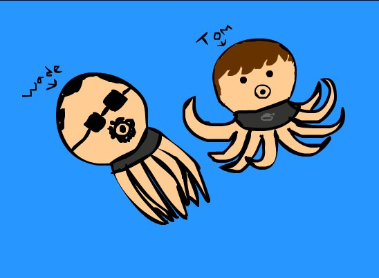 Tom & Wade in to Octopus
