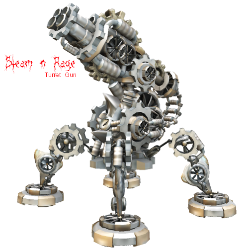 Steam n' Rage Turret Gun