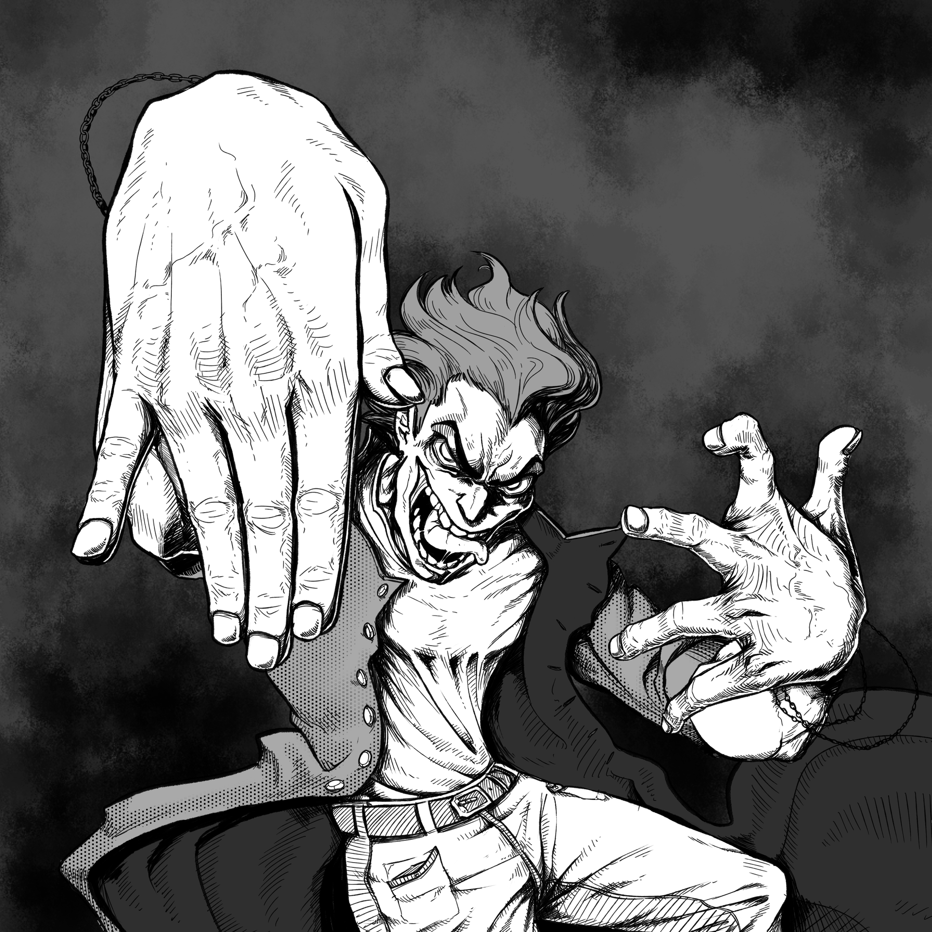 Man with two hands