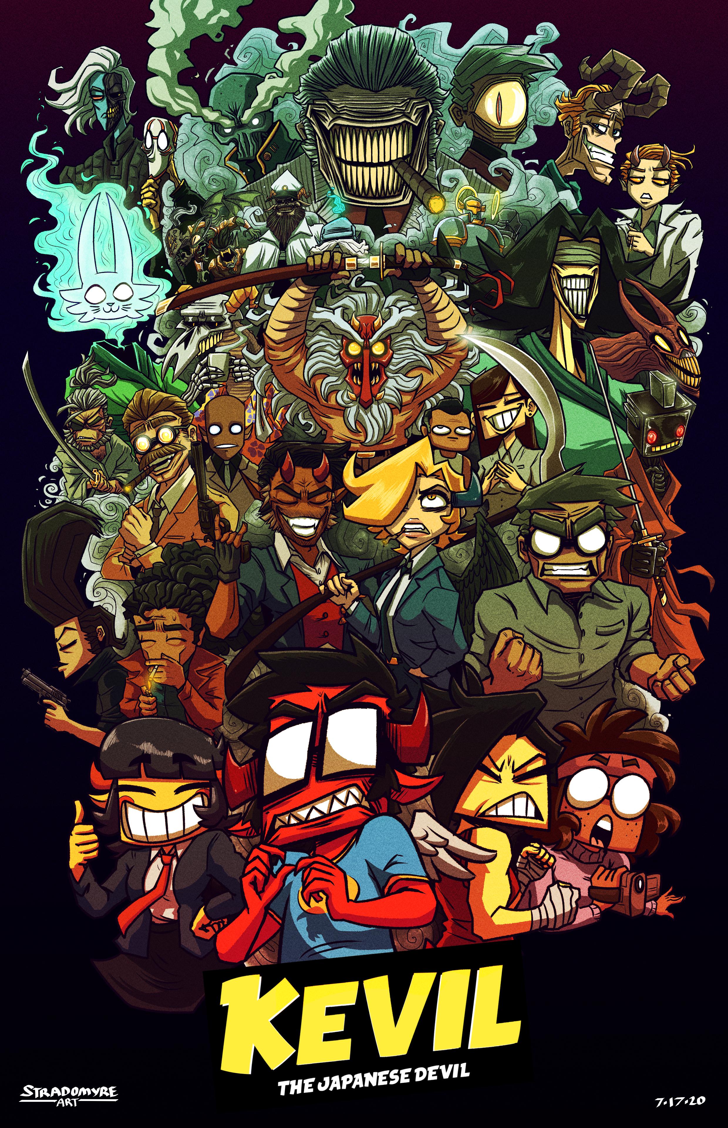 Kevil the Japanese Devil - Cast Poster