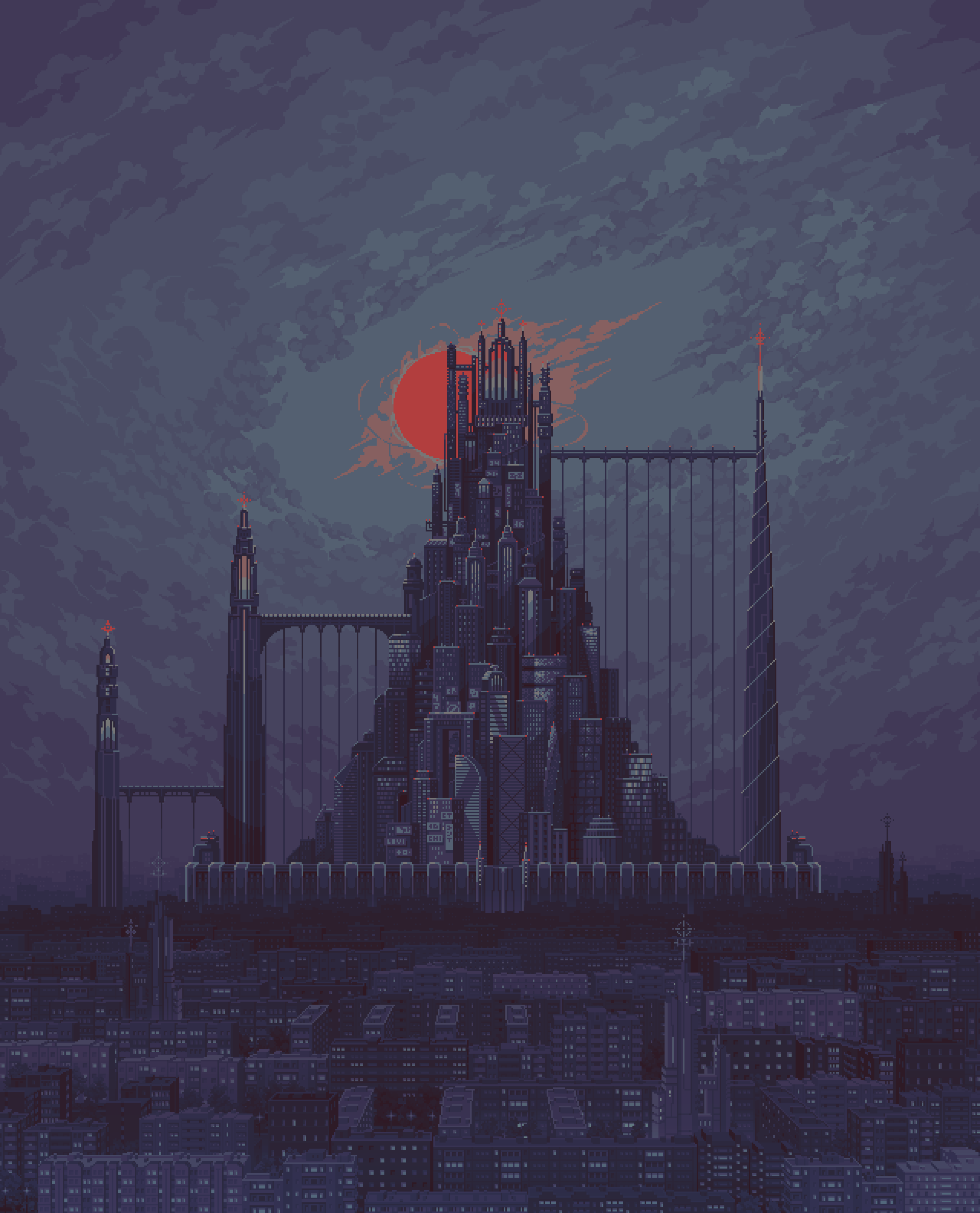 City background for our game project