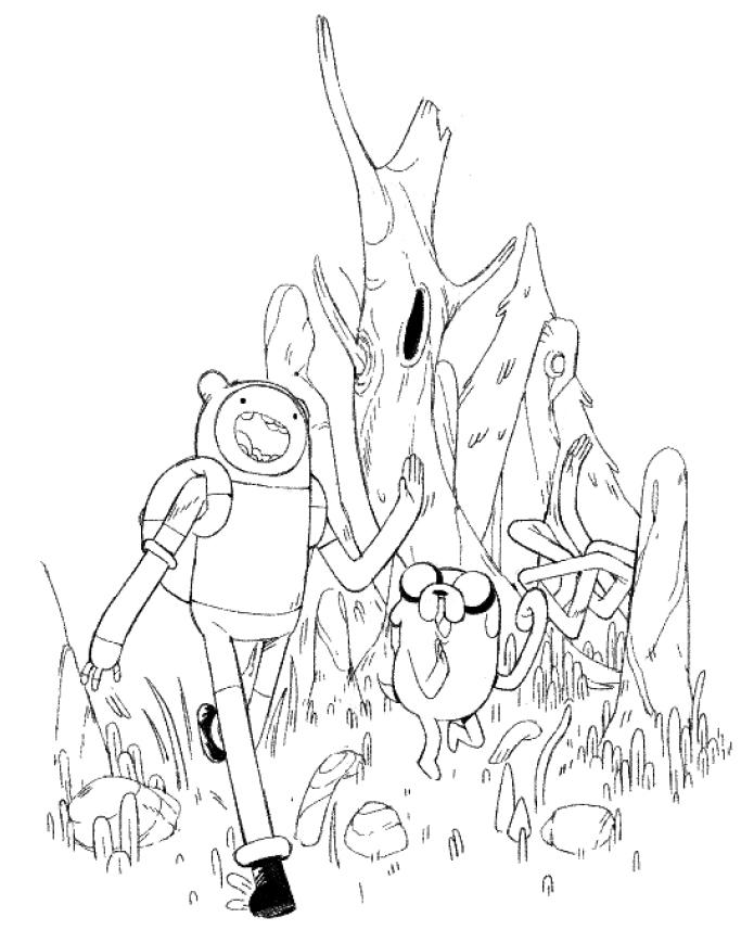 Classic Adventure Time, Lineart (fanart)