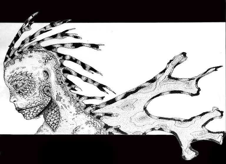 Reptilia - (B/W Stipple)