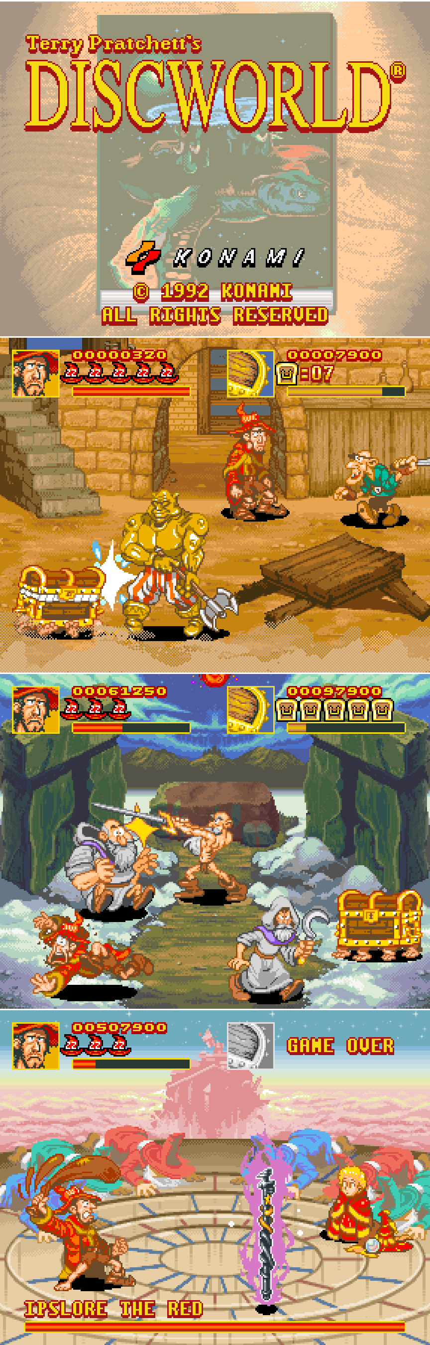 Discworld Arcade Game Mockup