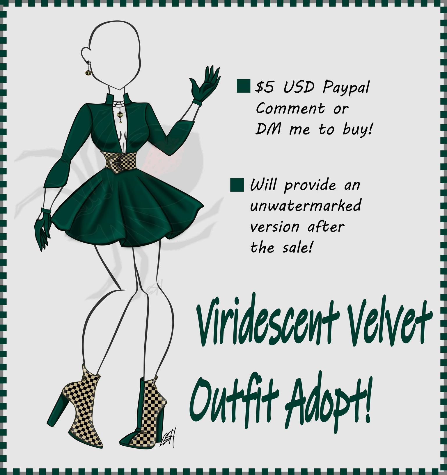 Viridescent Velvet Outfit,$5