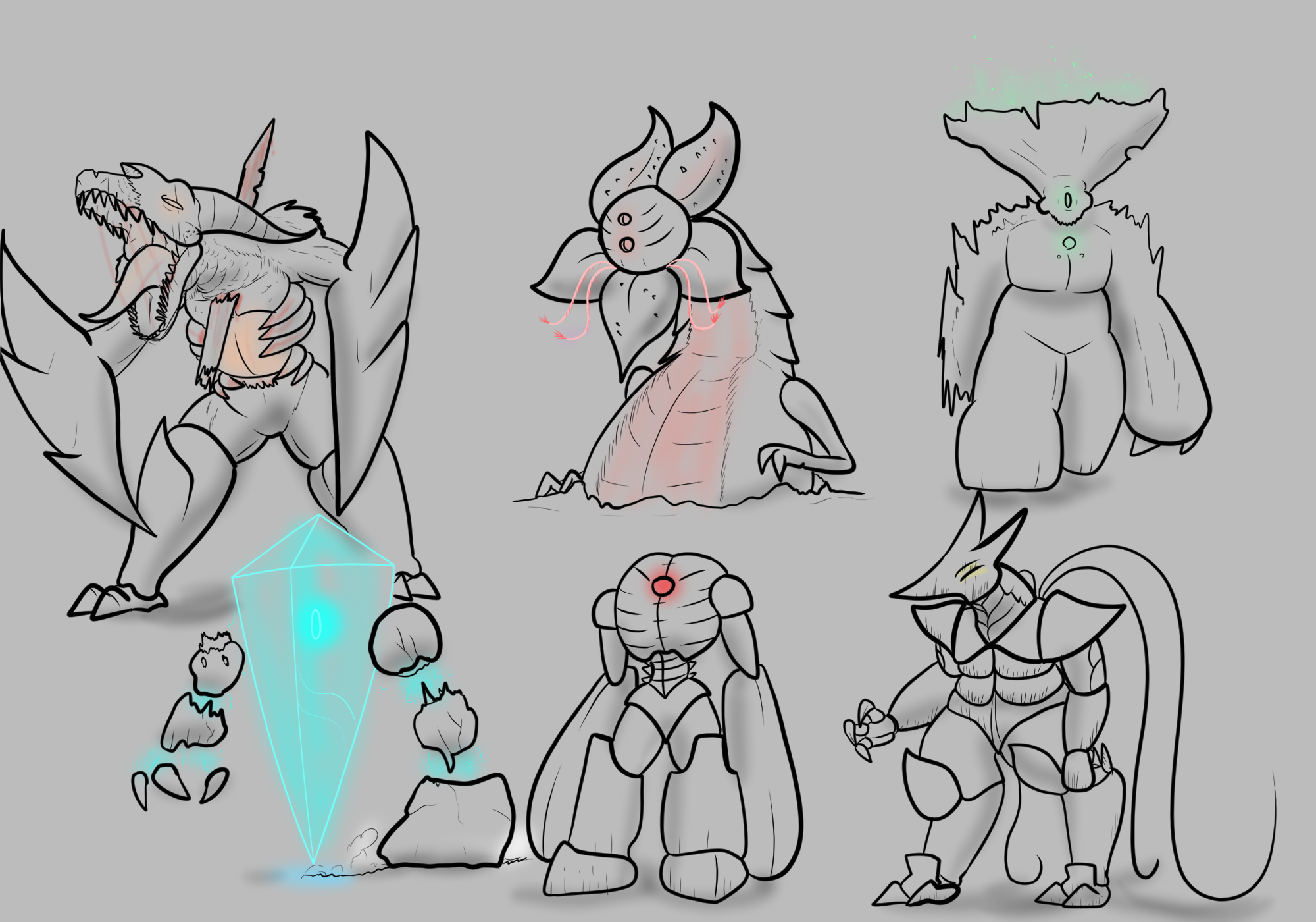 Some More Giant Monster Designs By Theprimaldino On Newgrounds