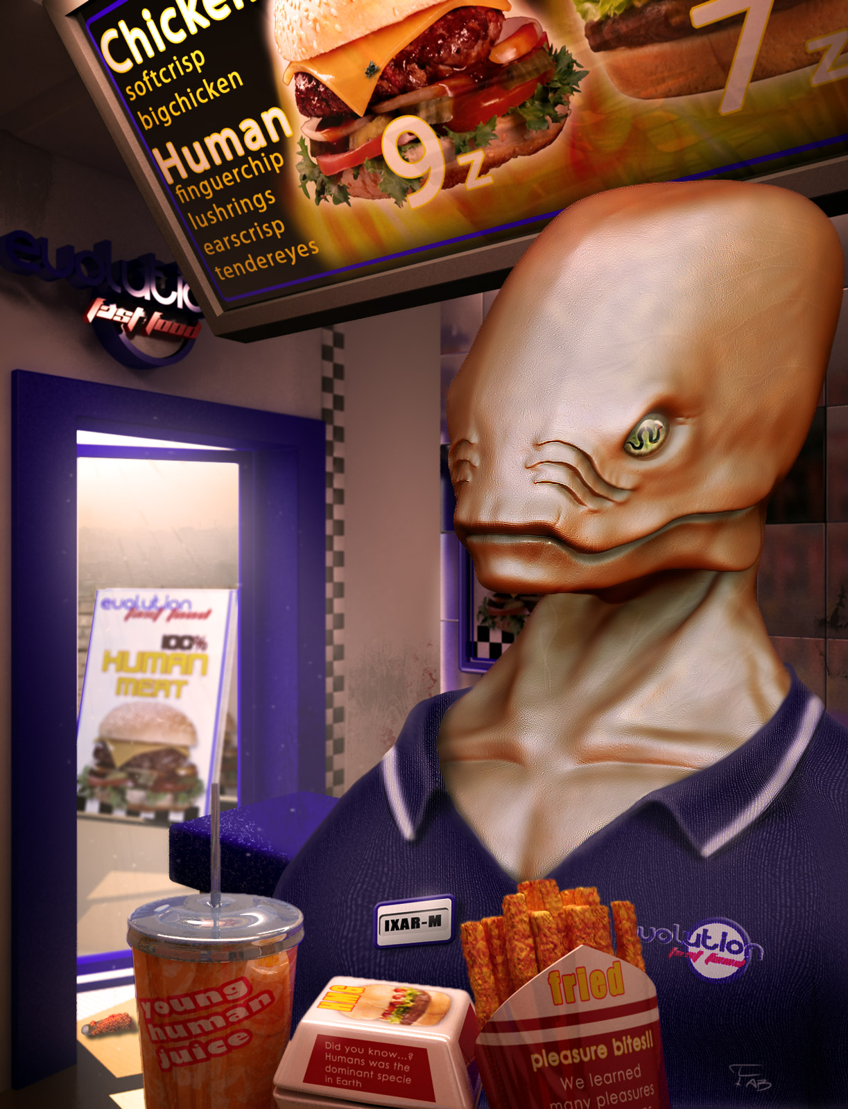 evolution fast food