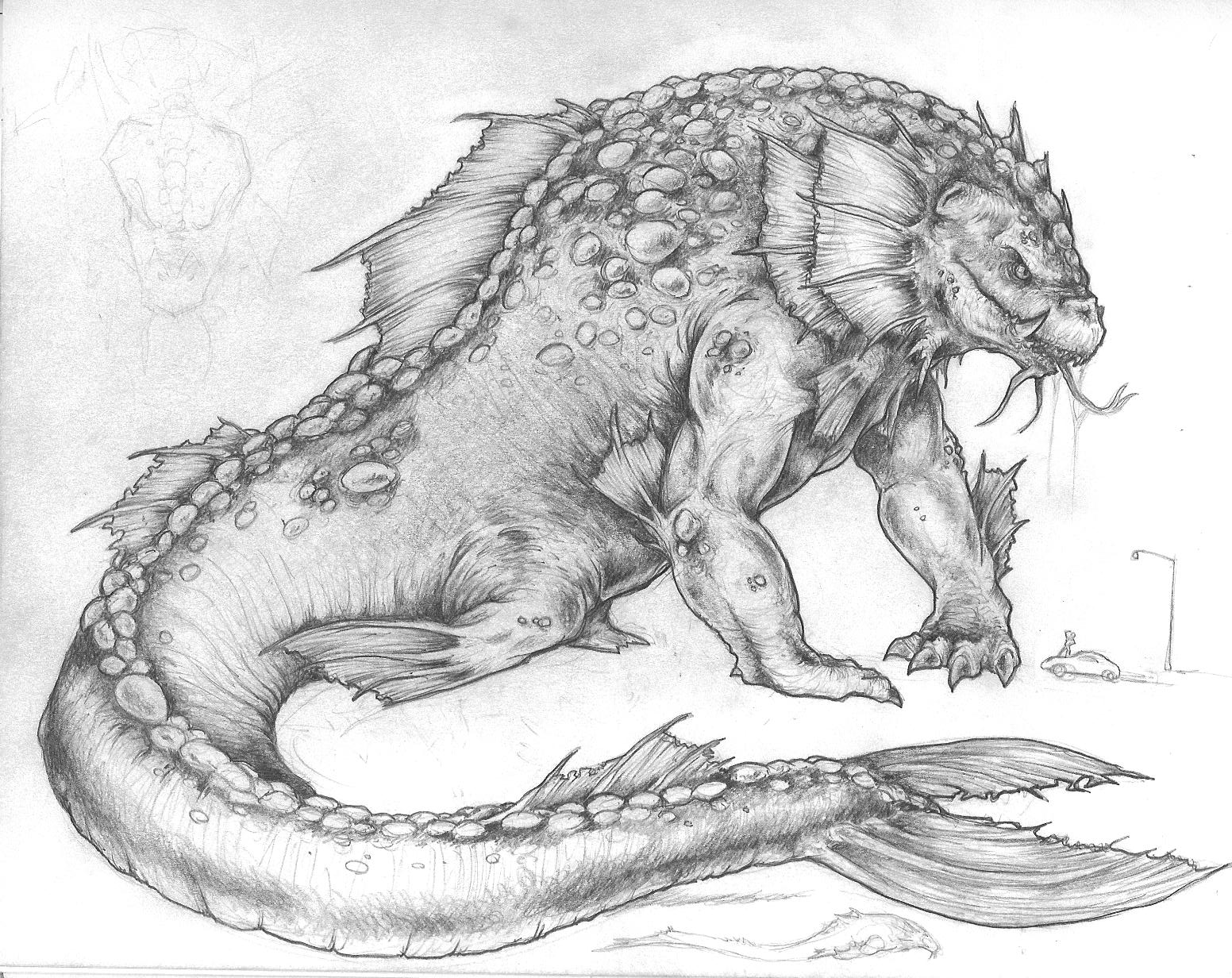 Drawing of some Sea Monster
