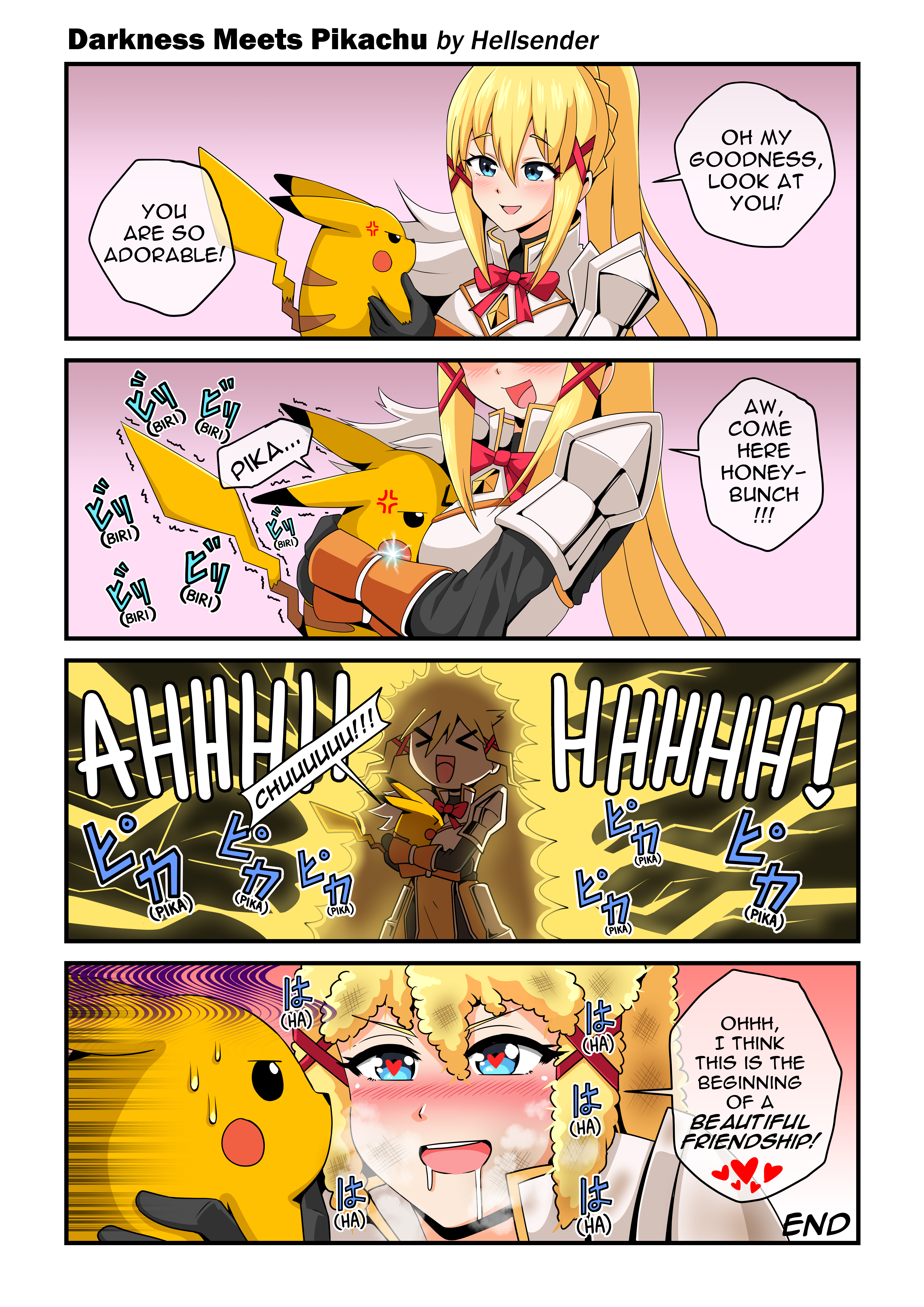 Commission: Darkness and Pikachu