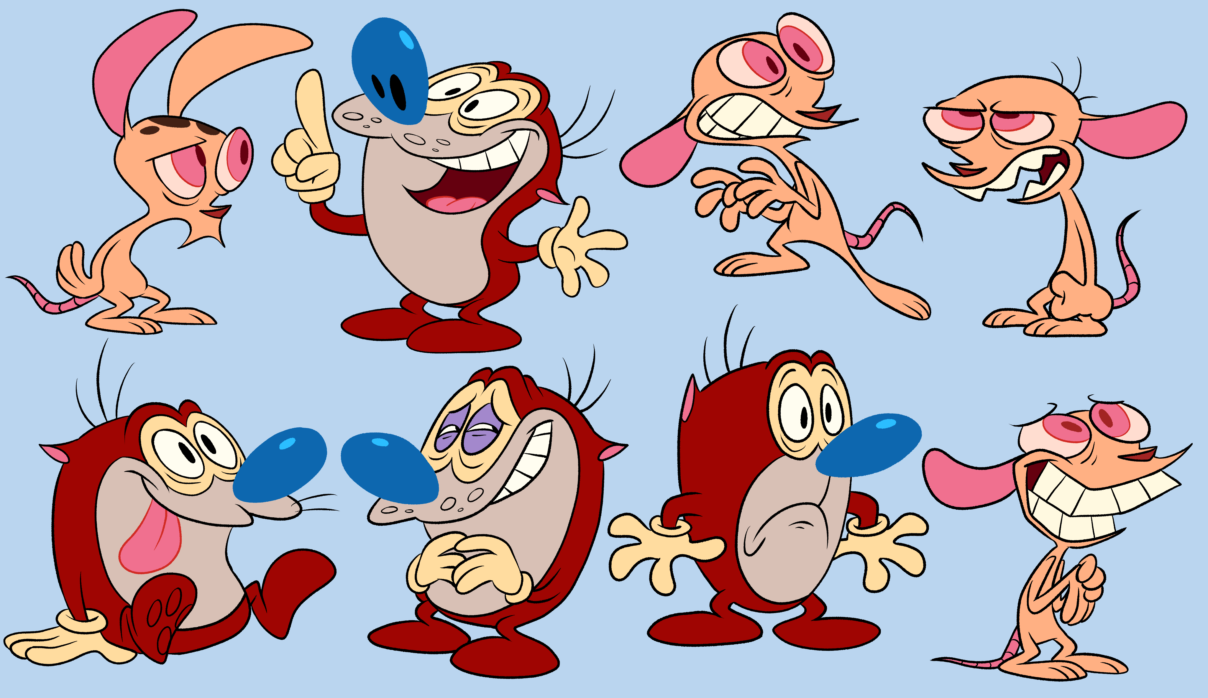 ren and stimpy by gummyng on newgrounds