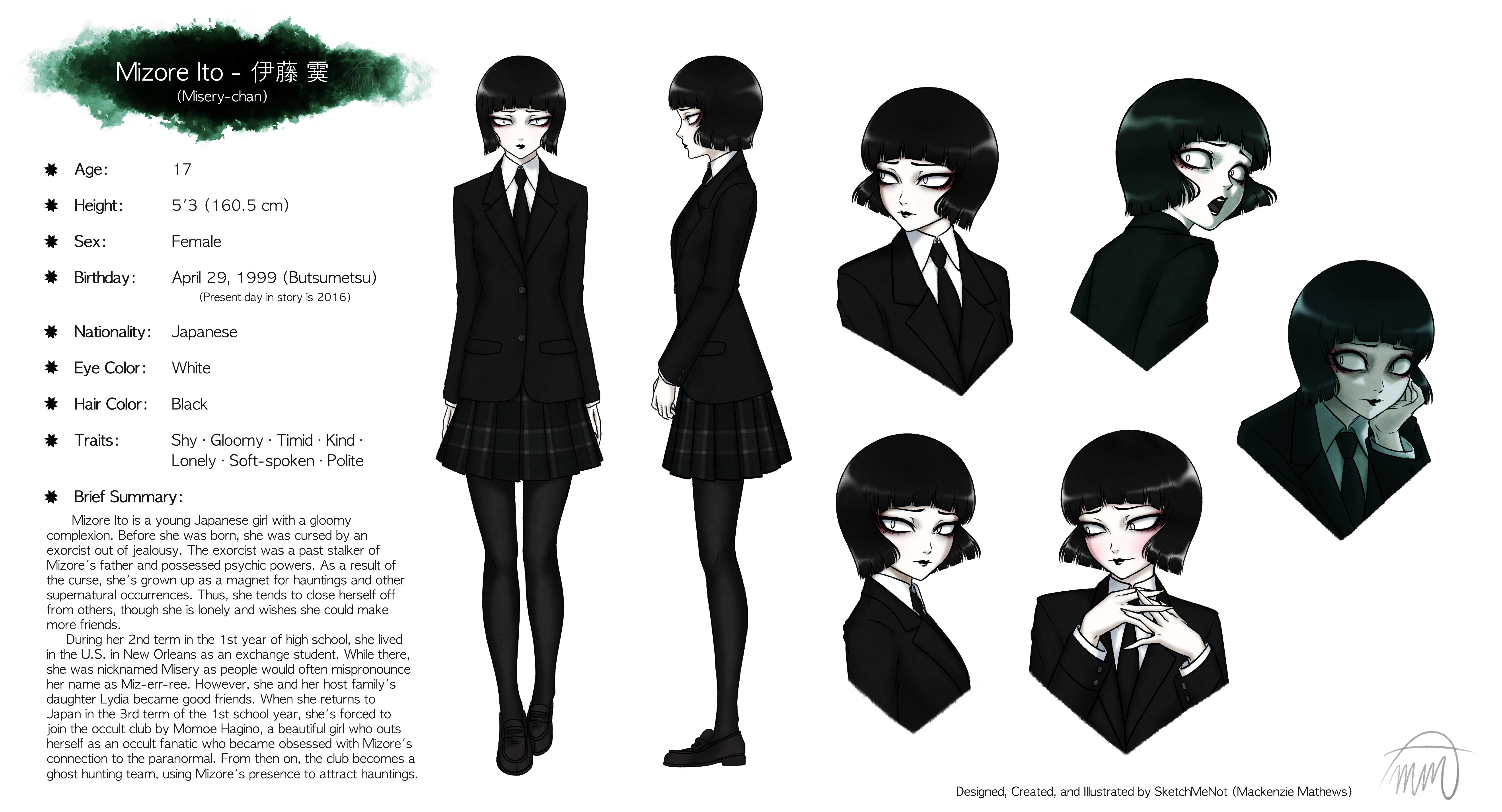 Mizore Ito (Misery-chan) - Character Sheet