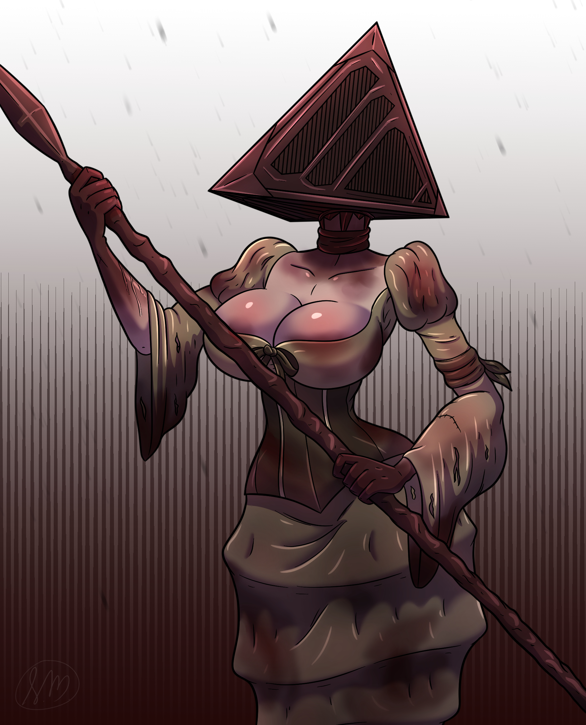 Triangle lady