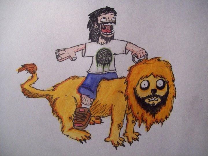 Man on a Lion