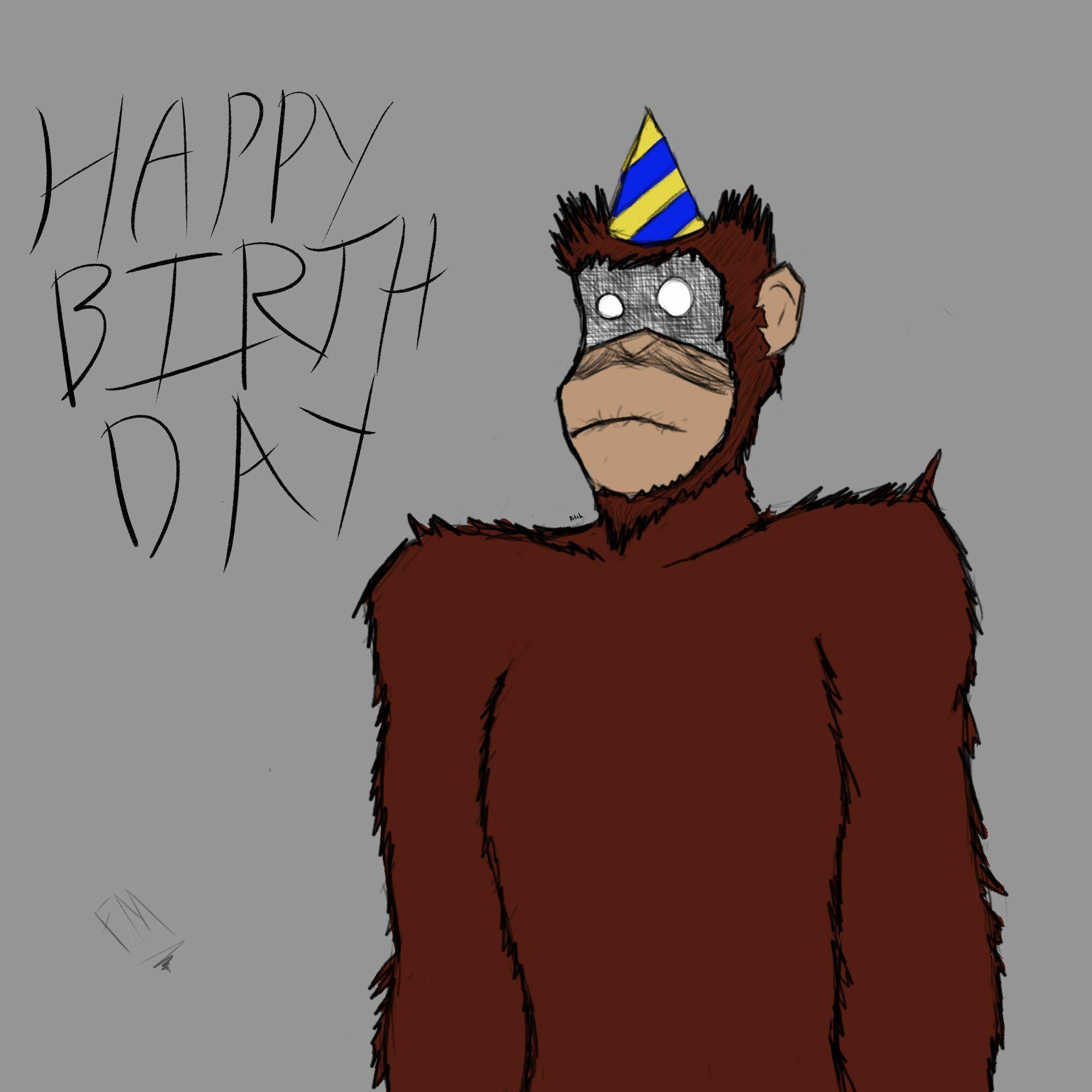 Birthday Monkey 2020