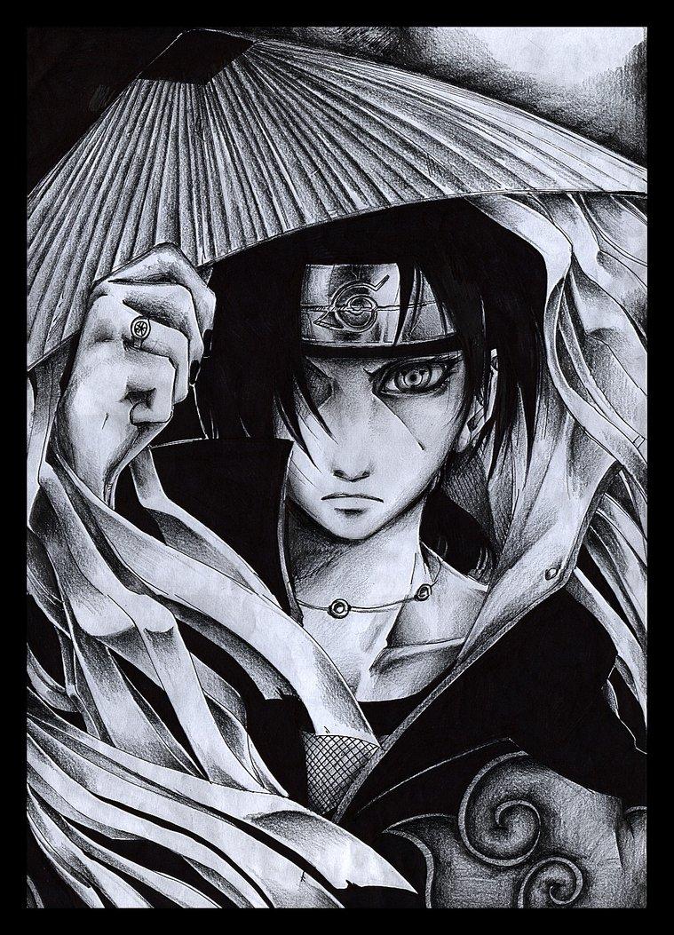 Pencil Art of Itachi