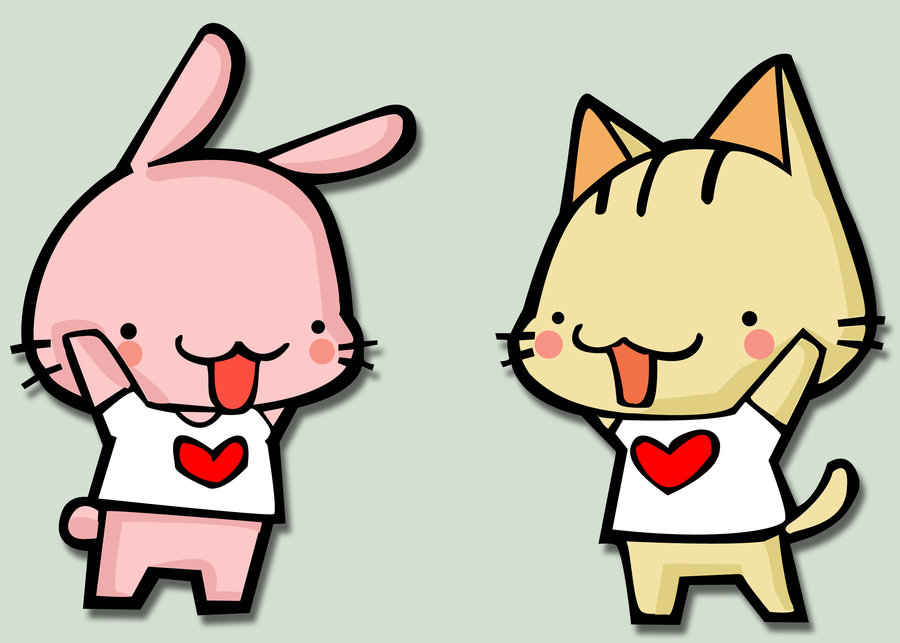 Kitty and Bunny!