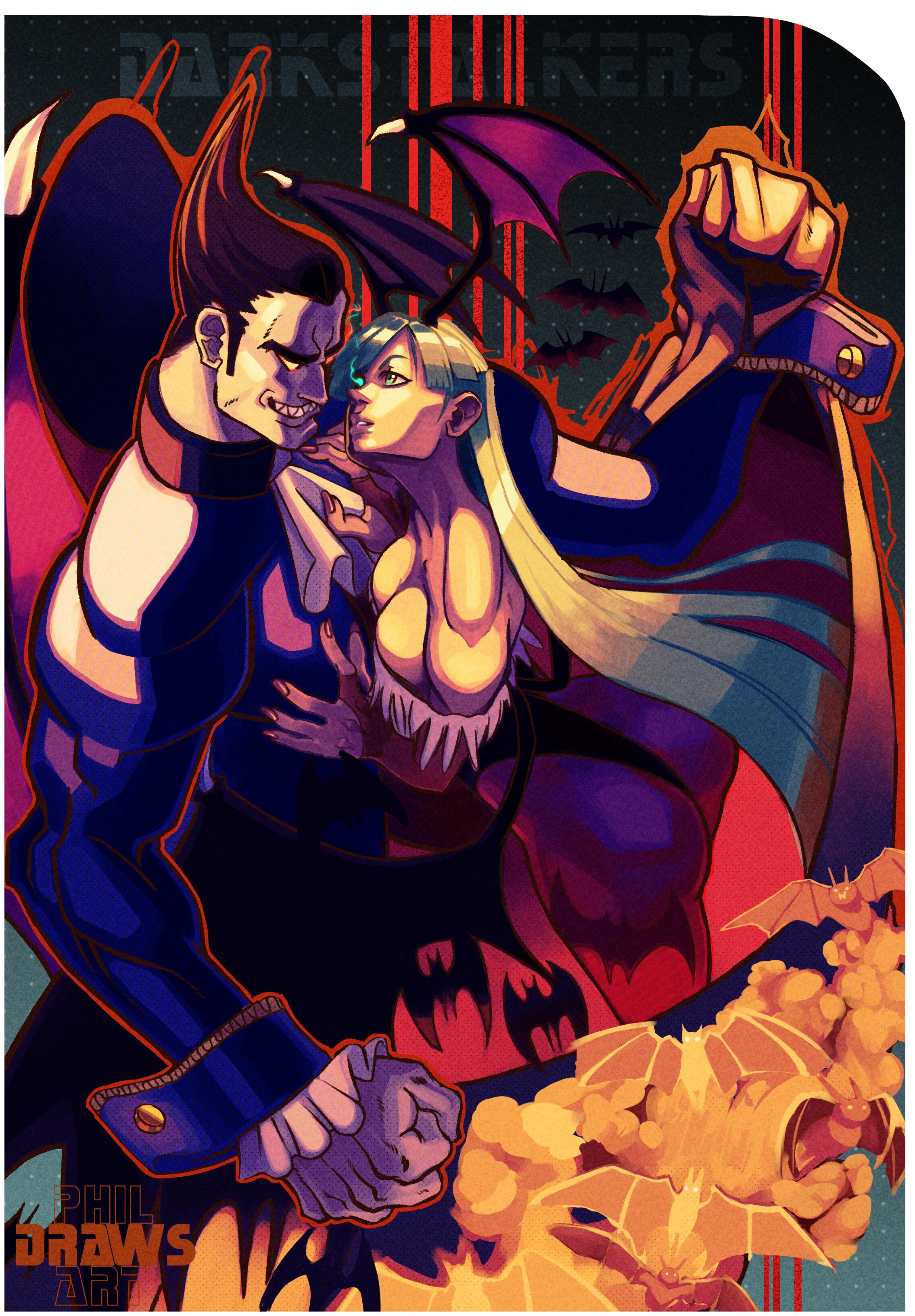 Darkstalkers Demitri n Morrigan