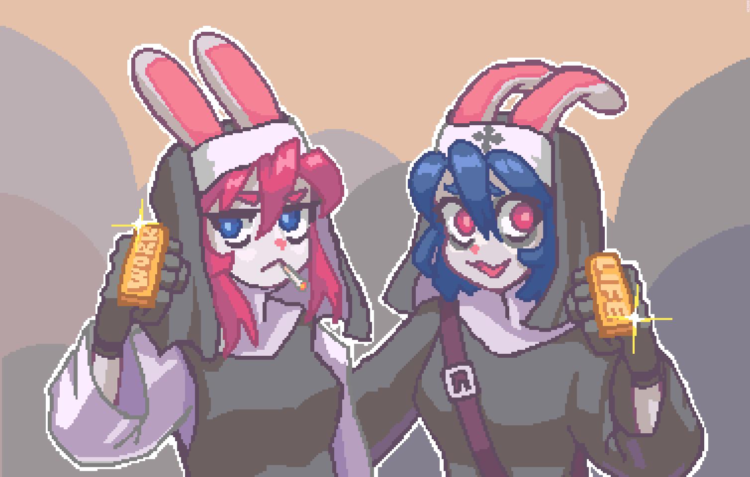 fighting nun buns