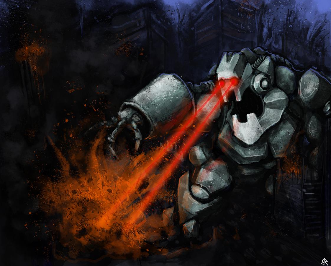 Robot wiff lazooors