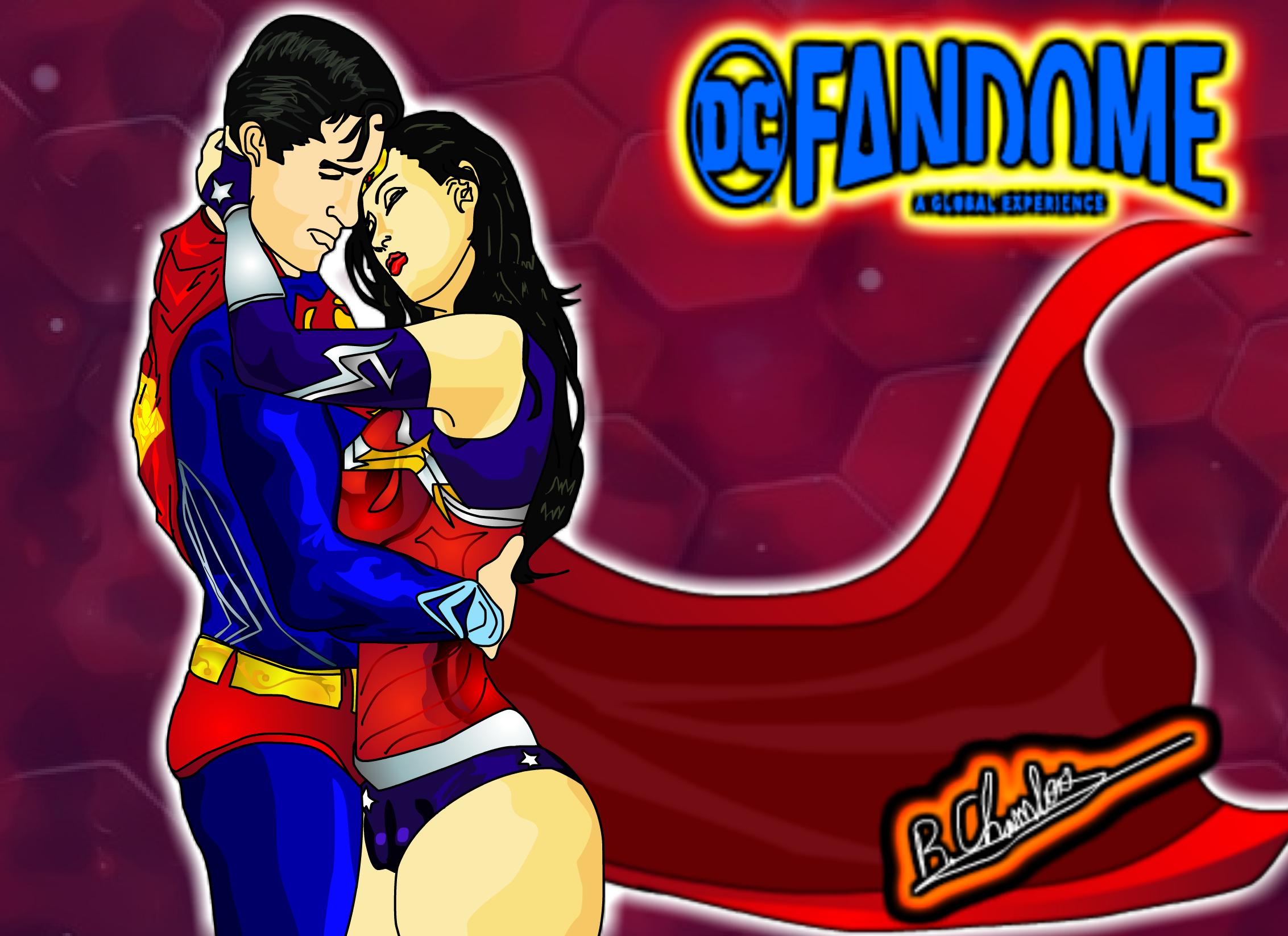 DC-Fandome Art - Superman & Wonder woman