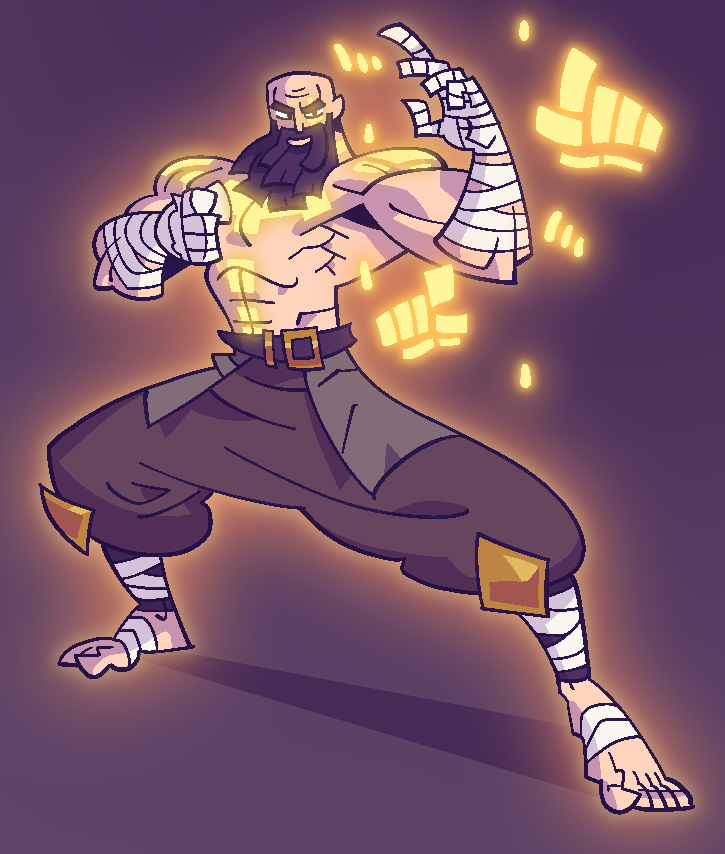 ART FIGHT: Monk Man