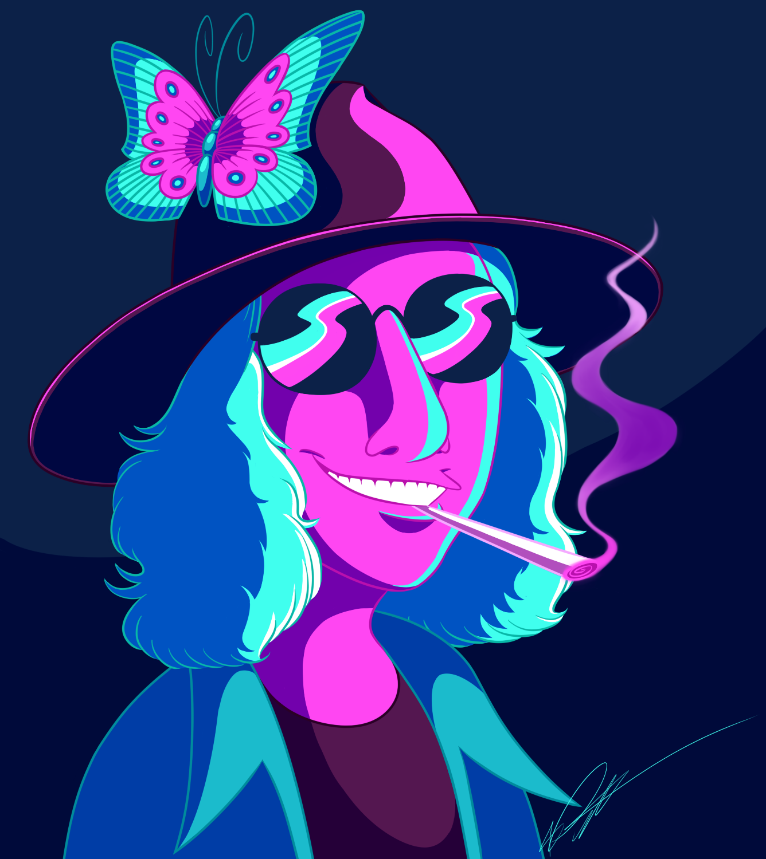 Commission: Neon Caricature