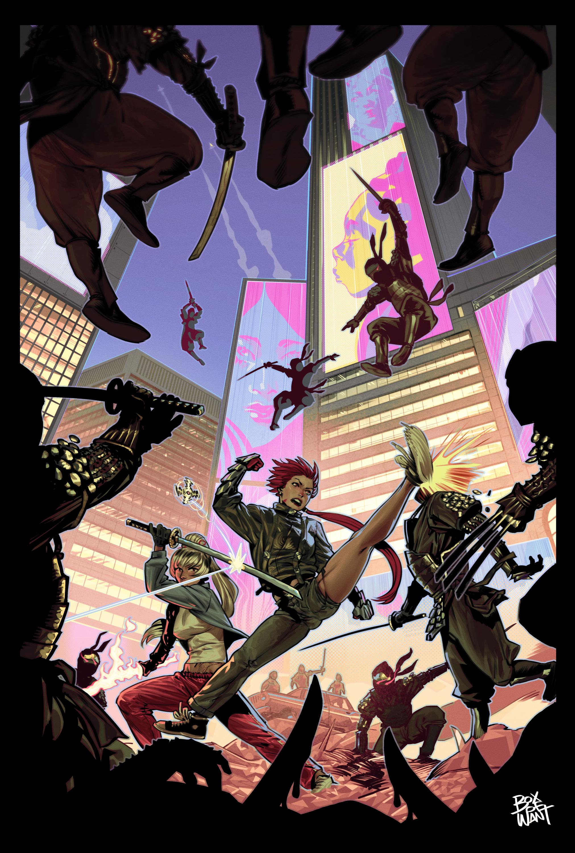 Forte and Kanami fighting the Ninja Army.