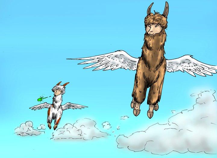 Flying Llamas That Spit Acid