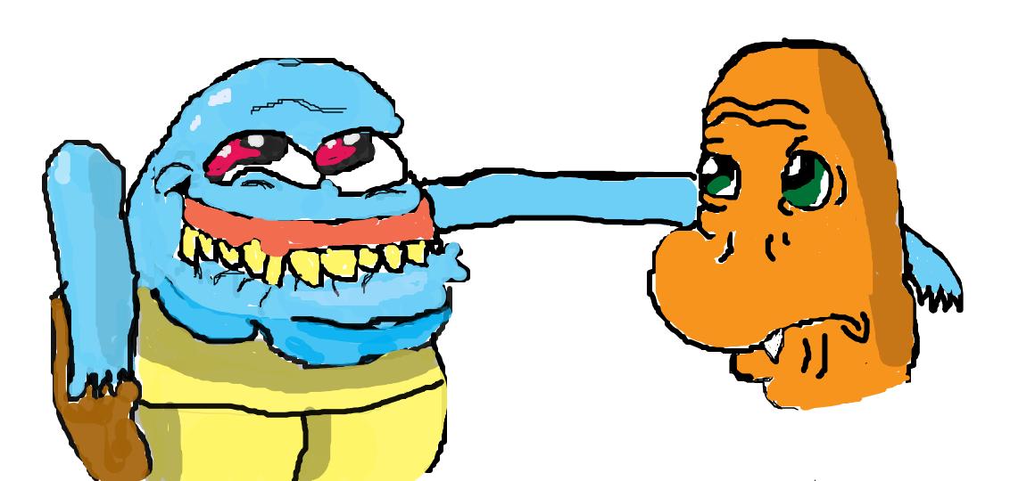 Squritle and Charmander Goofy