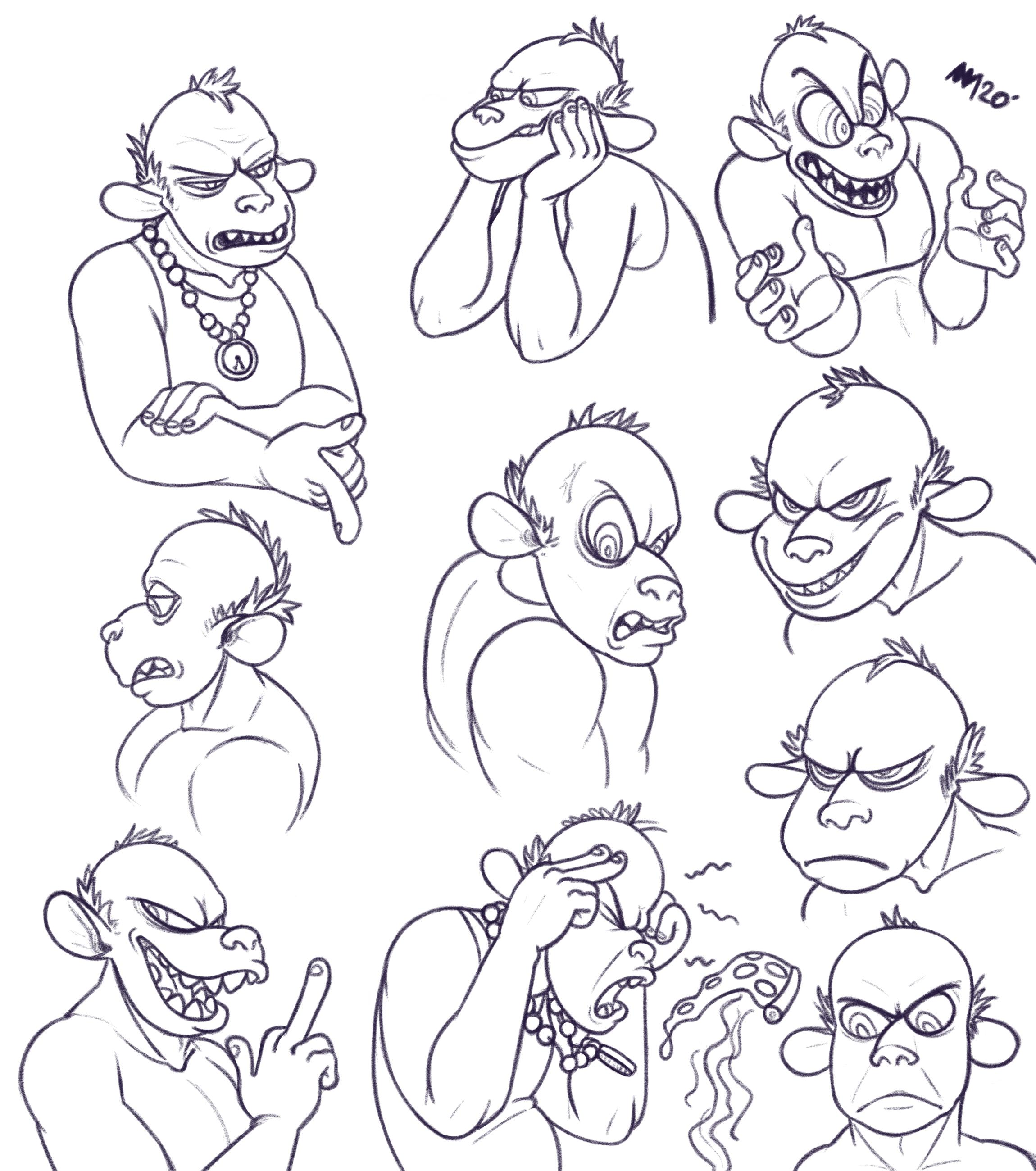Faces of Gangsta Jim