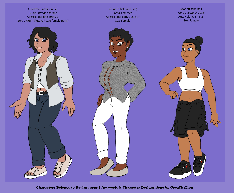Devinsaurus' OCs: Meet Gina's Family