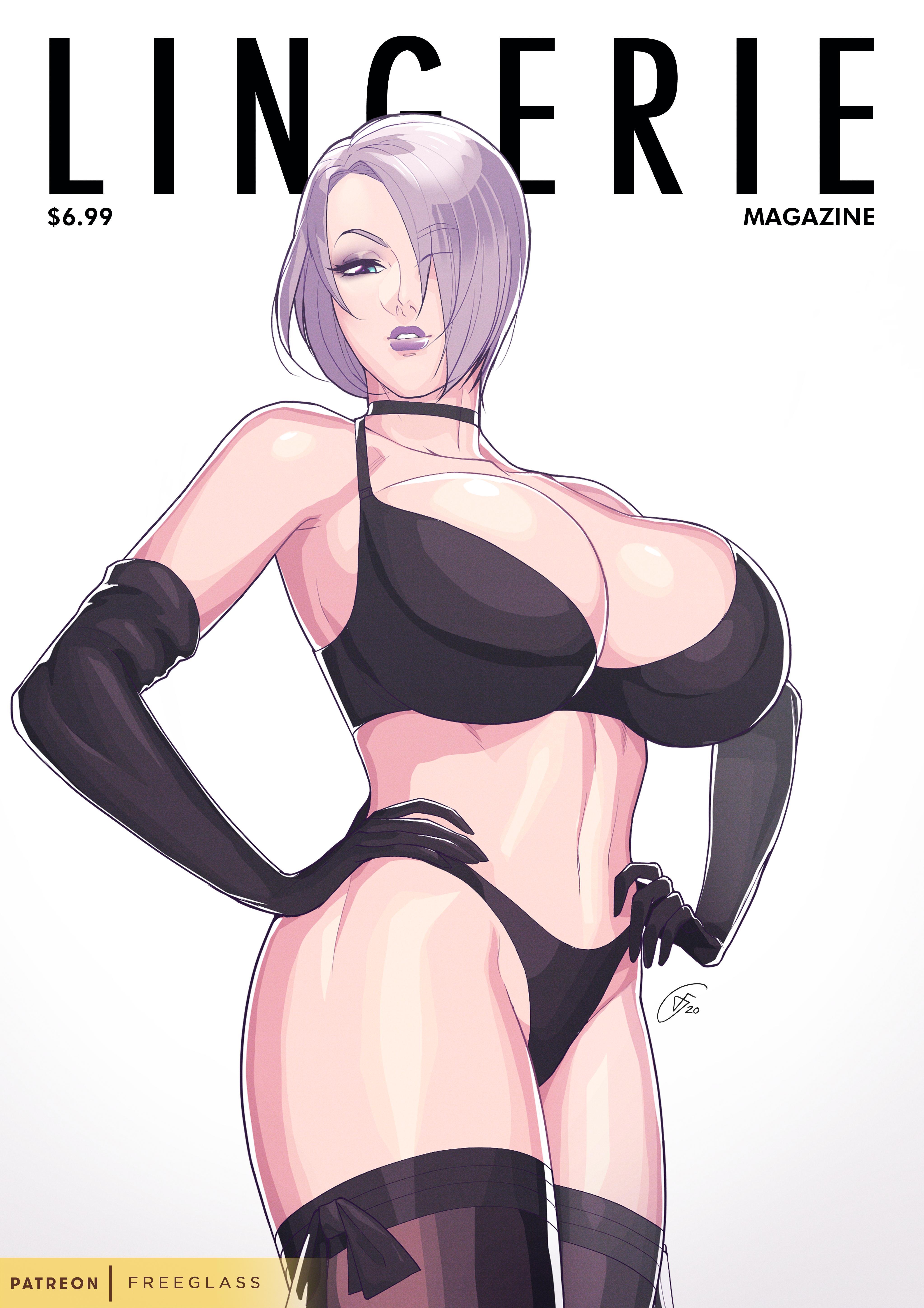 Lingerie Magazine Cover Girl - Ivy Valentine 2
