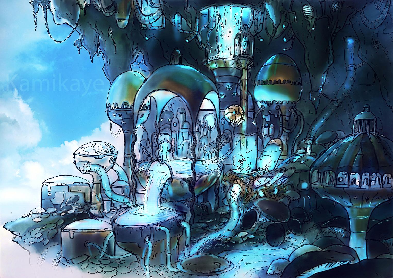 Alchemistic blue factory