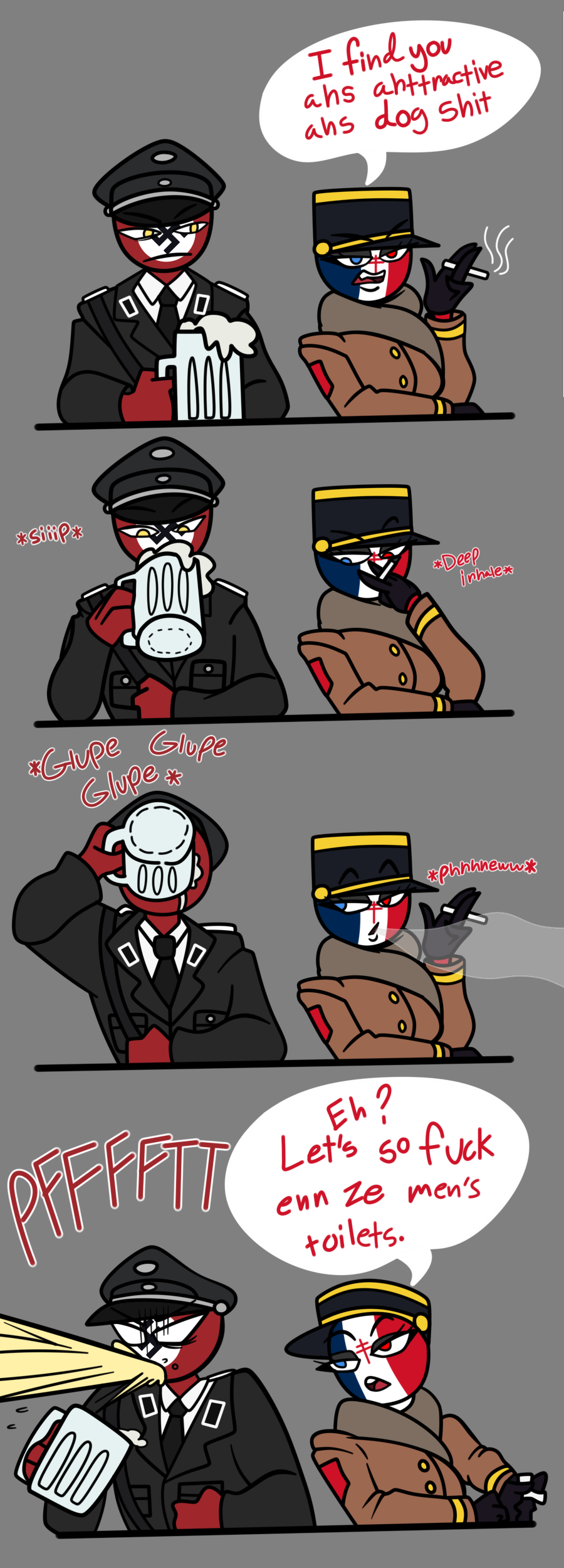 CountryHumans - Third Reich and France