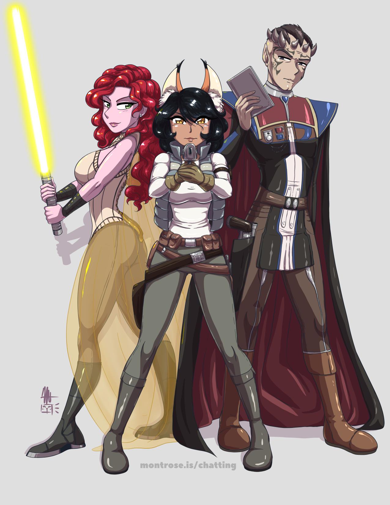 Zeltron, Zabrak, and Cathar