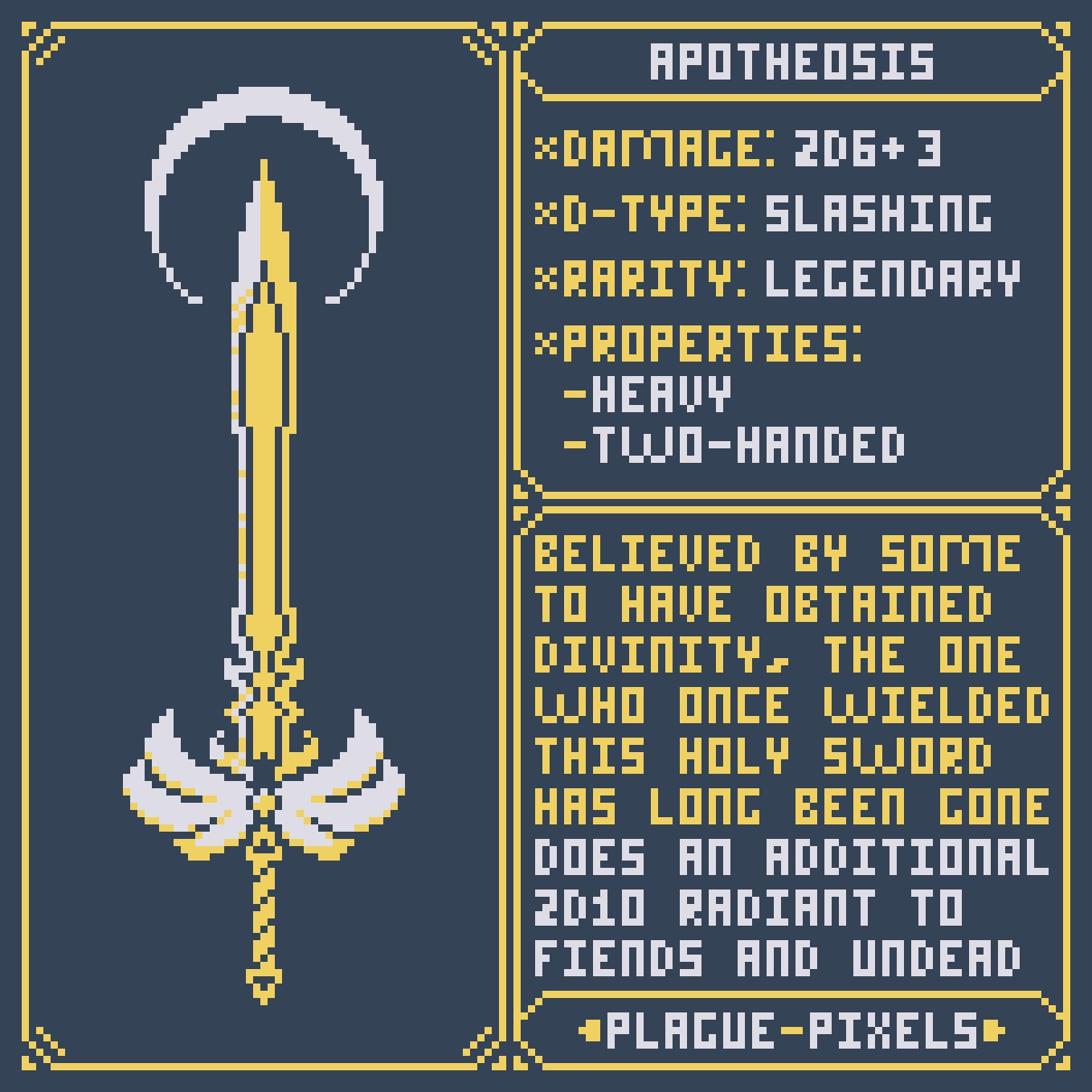 #Swordtember 09 - Apotheosis
