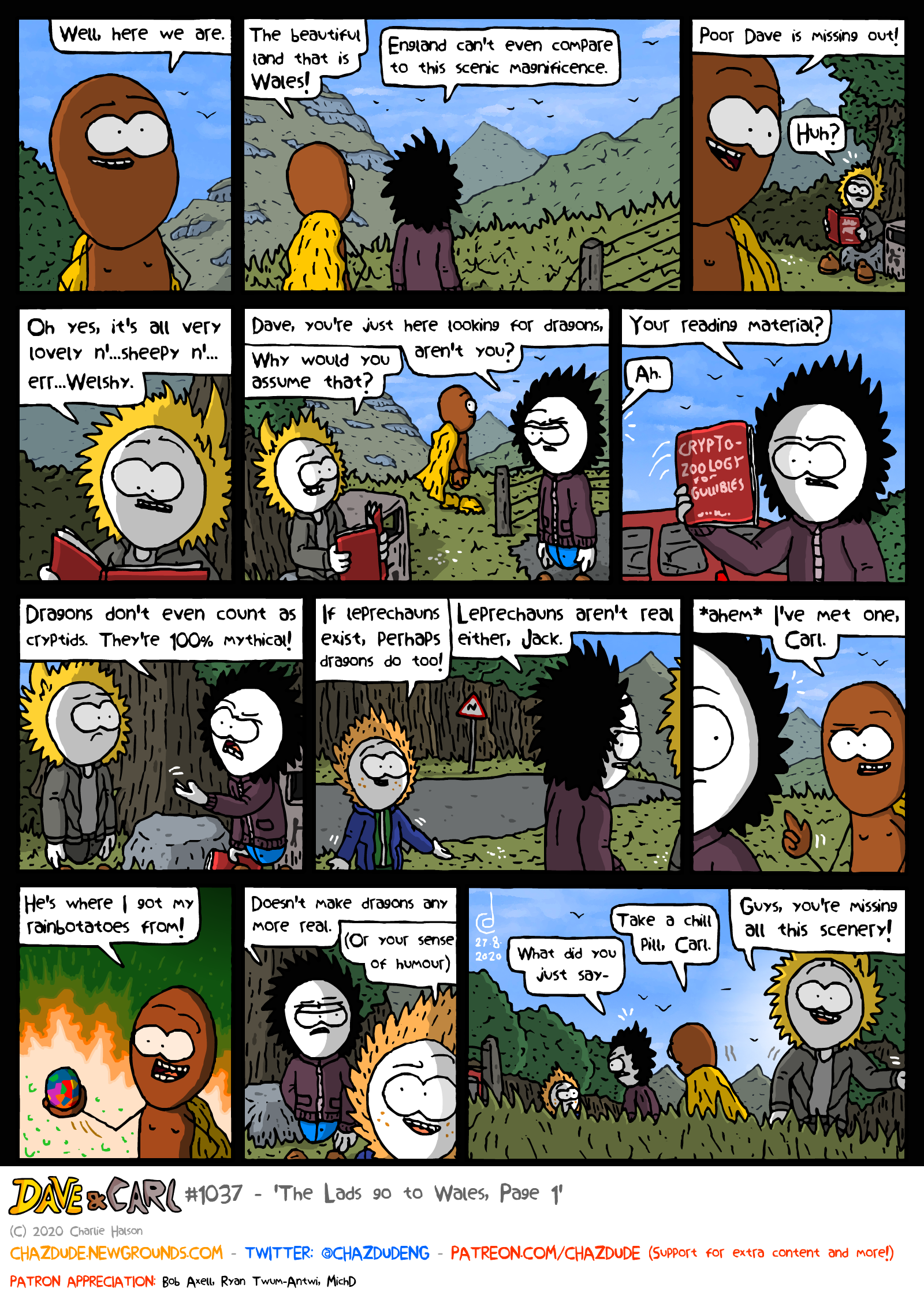The Lads go to Wales, Page 1