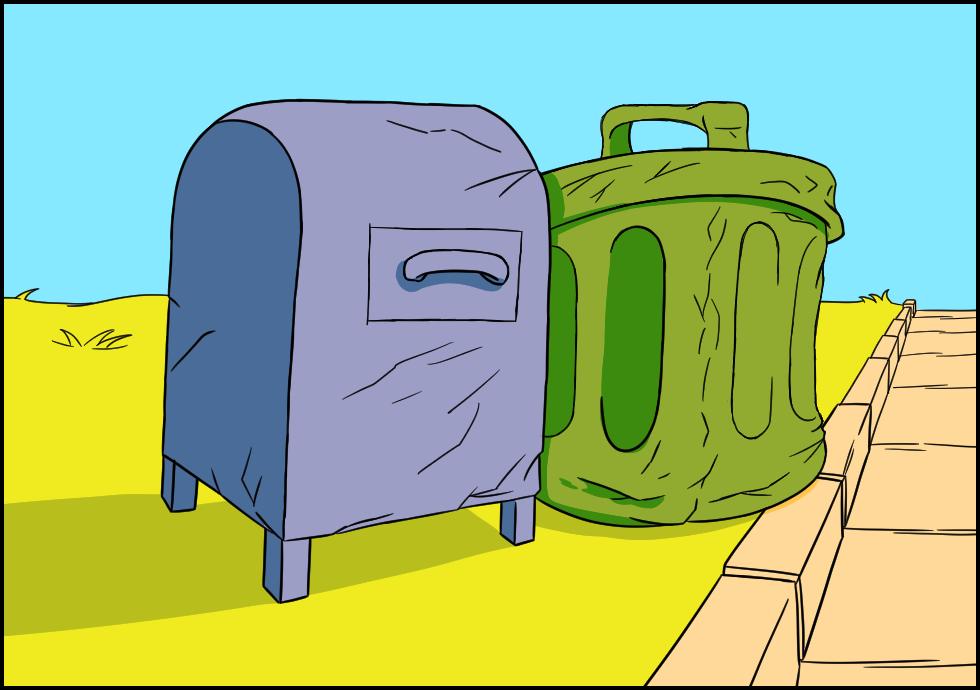 Trash n' Mailbox