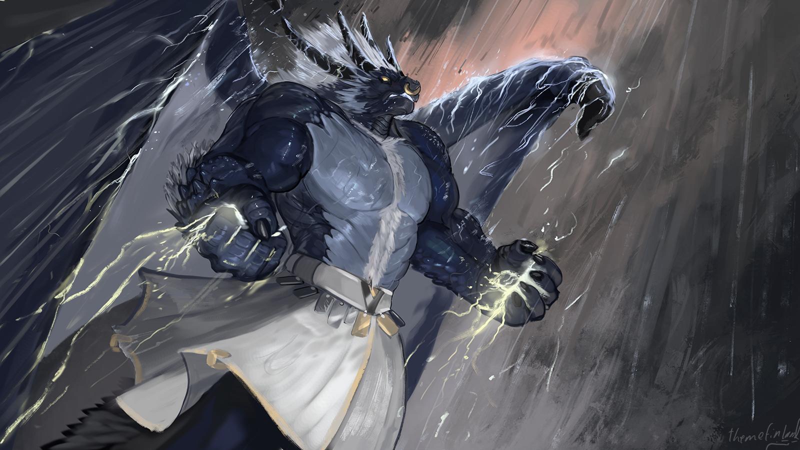 Thunder deity [commission]