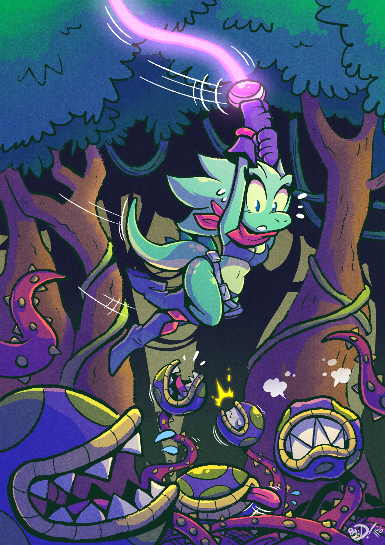 Dino Swings By