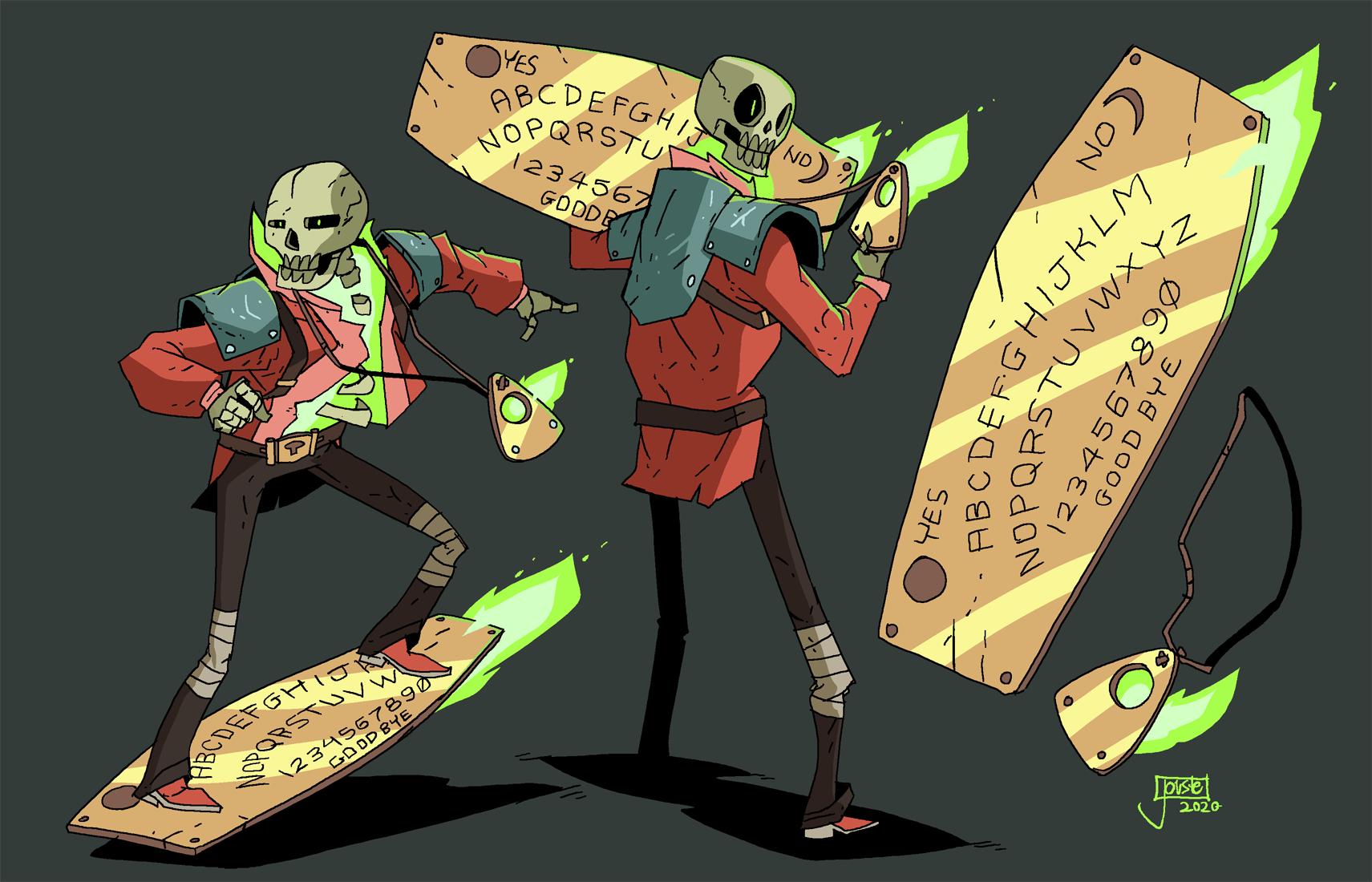 The Ouija boarder