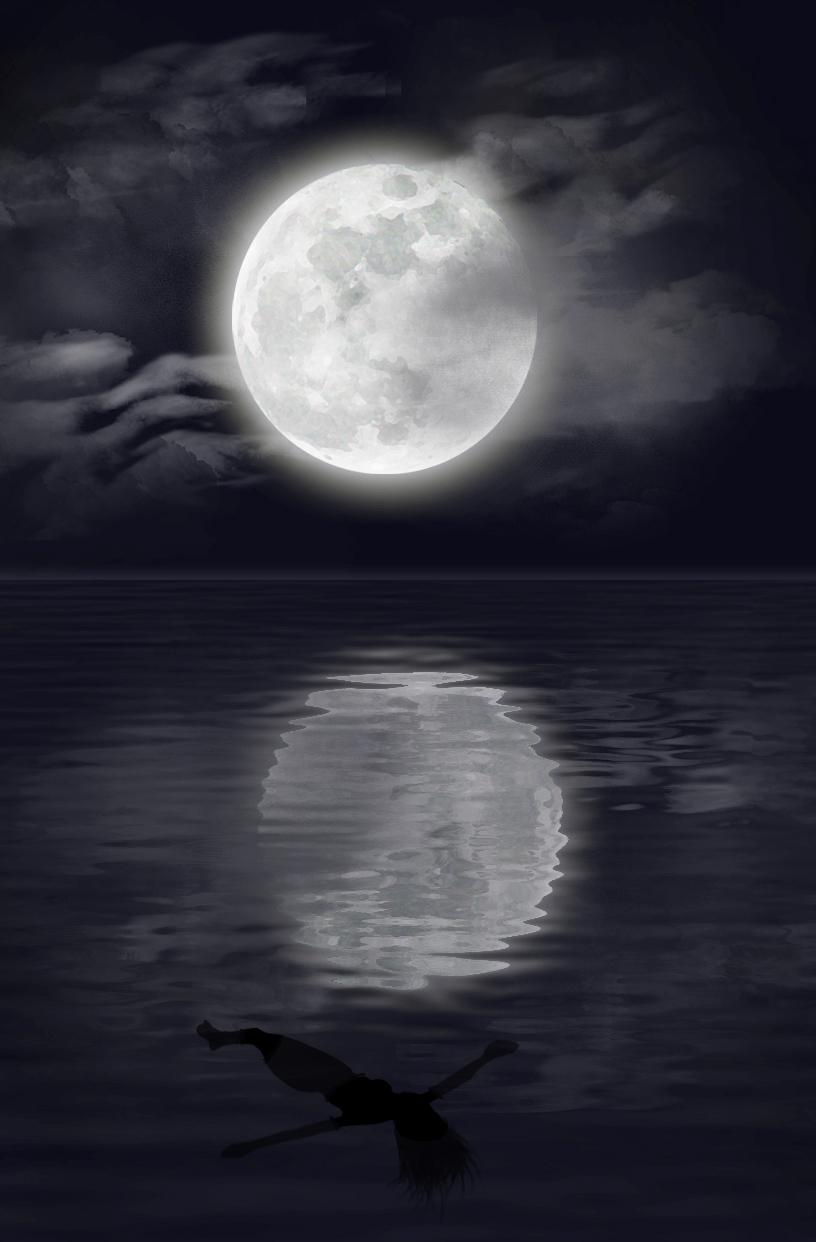 Pale Blue Moon Girl