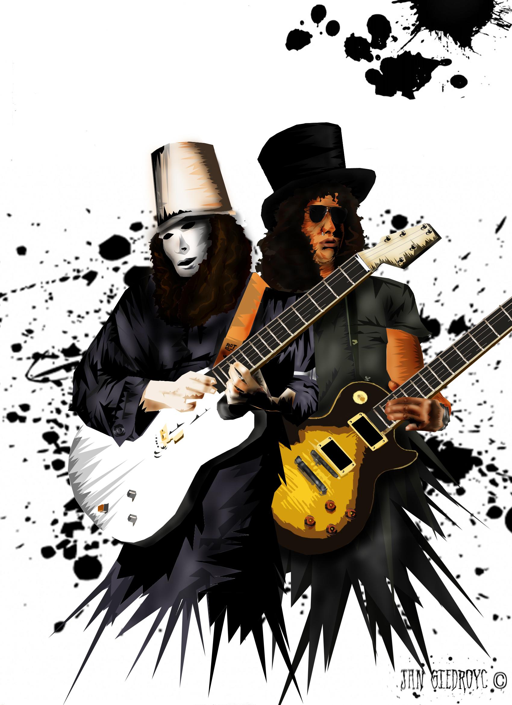 Slash and Buckethead