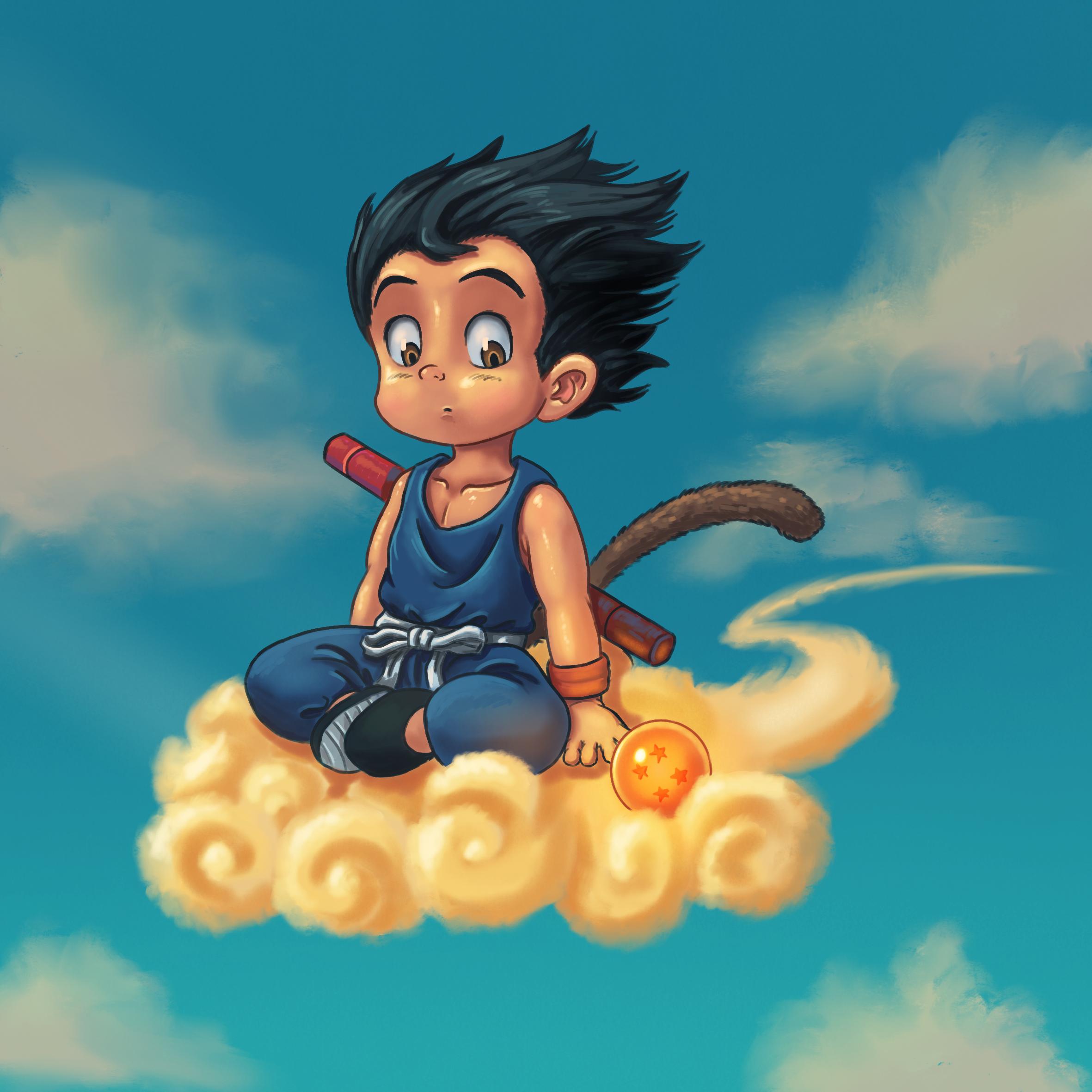 Son-Goku and Jindujun Fanart