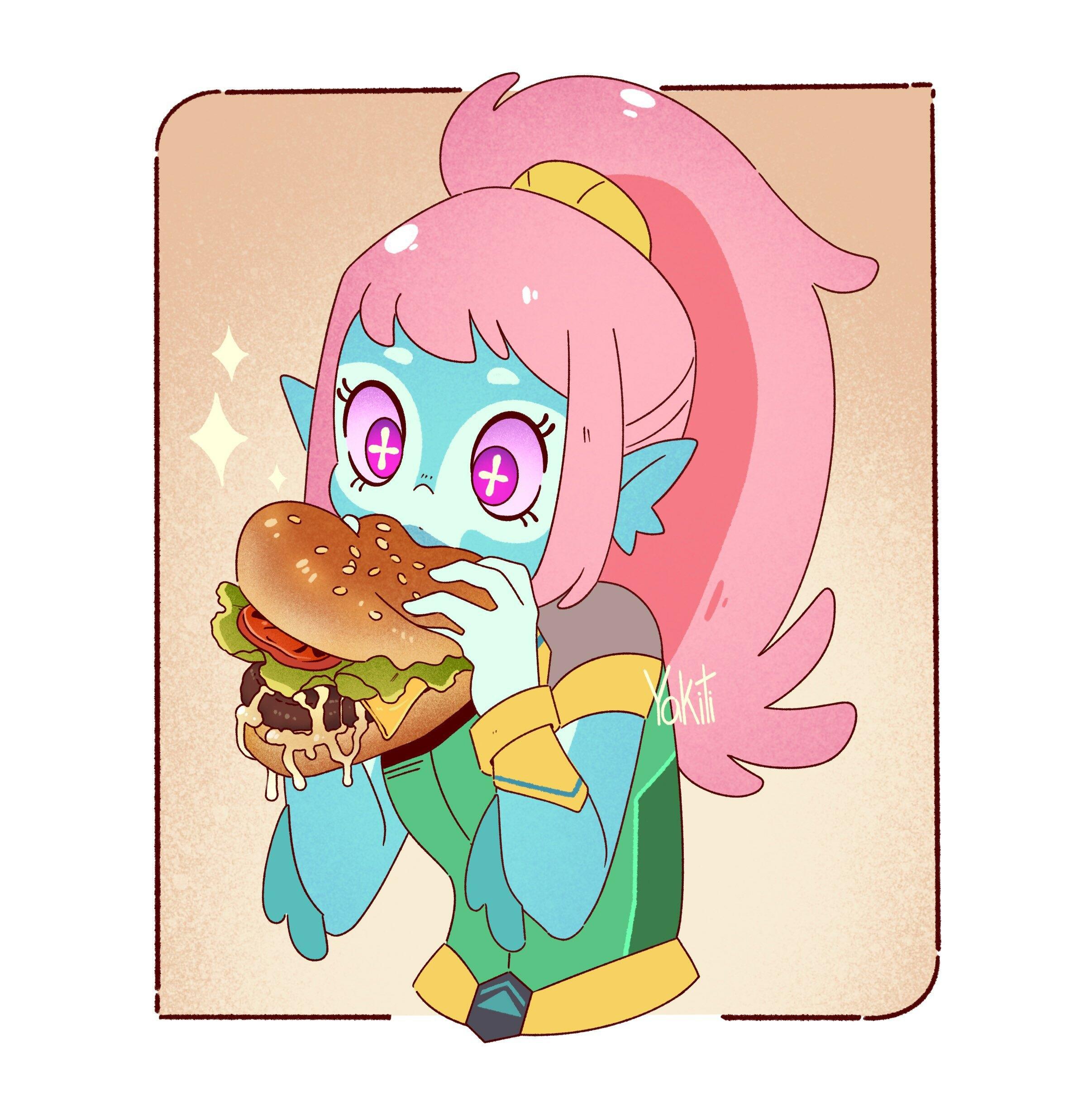 Akila eating Borger 🍔✨
